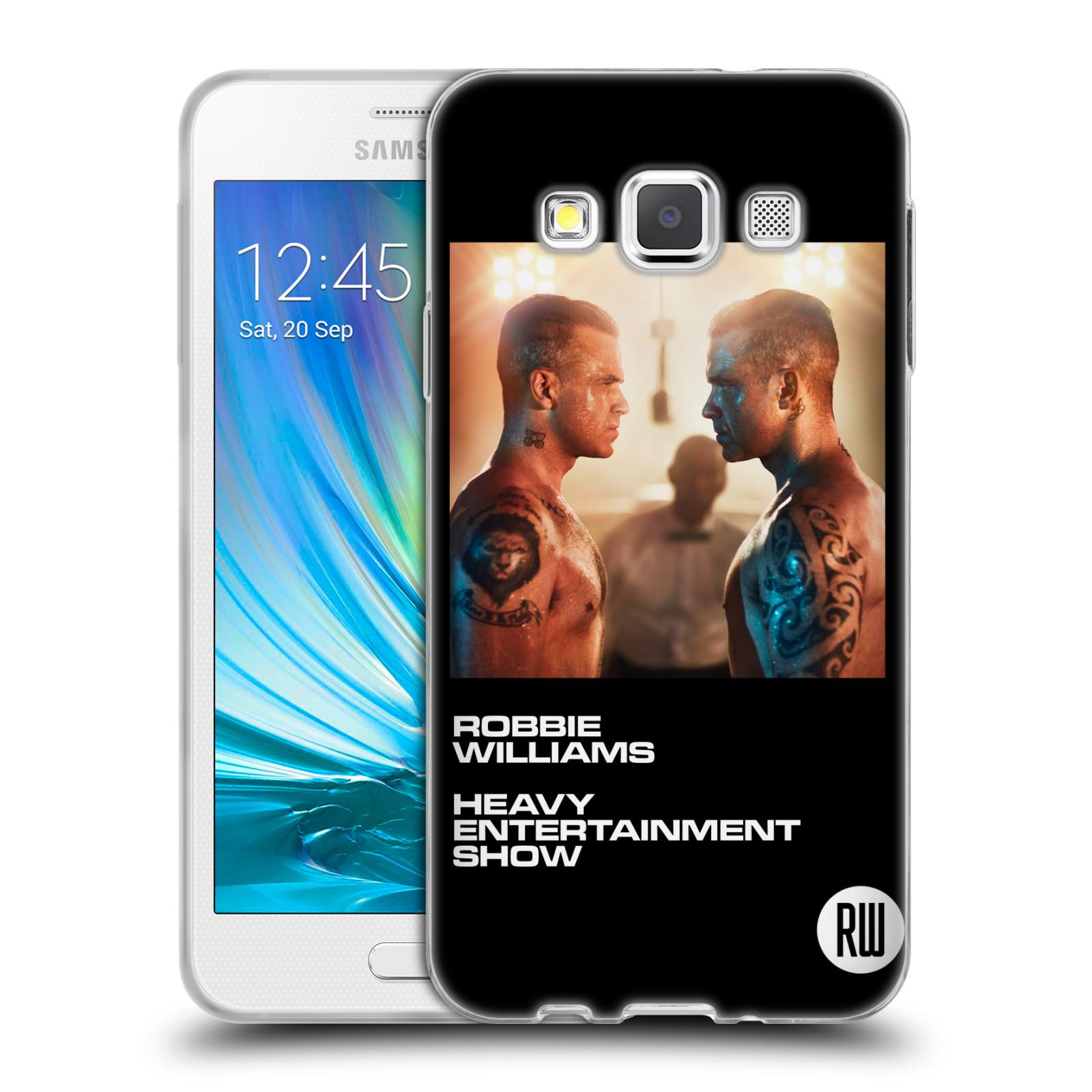 HEAD CASE silikonový obal na mobil Samsung Galaxy A3 (A300) zpěvák Robbie Williams souboj