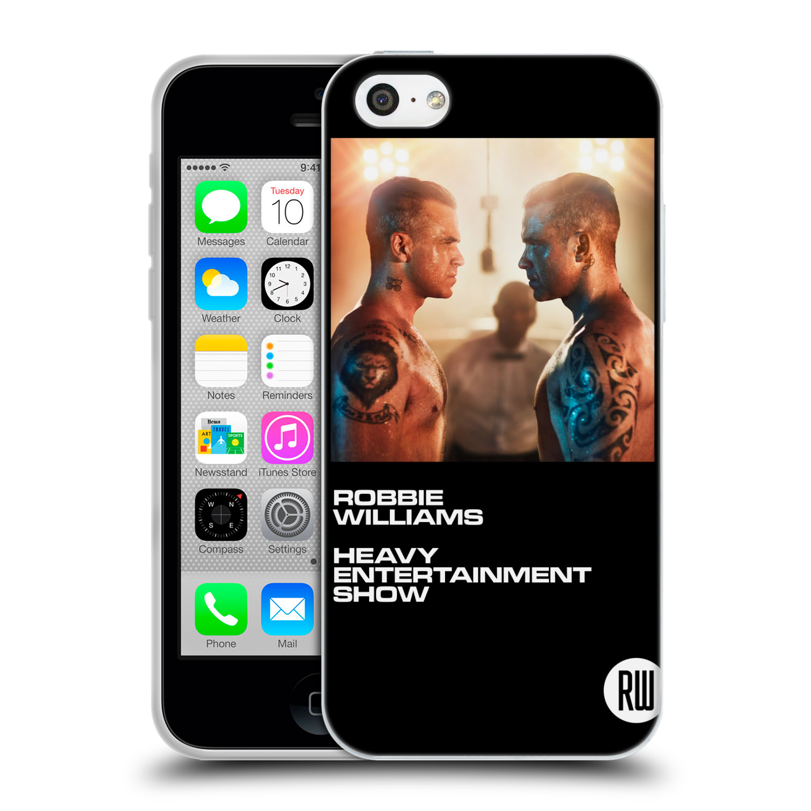 HEAD CASE silikonový obal na mobil Apple Iphone 5C zpěvák Robbie Williams souboj