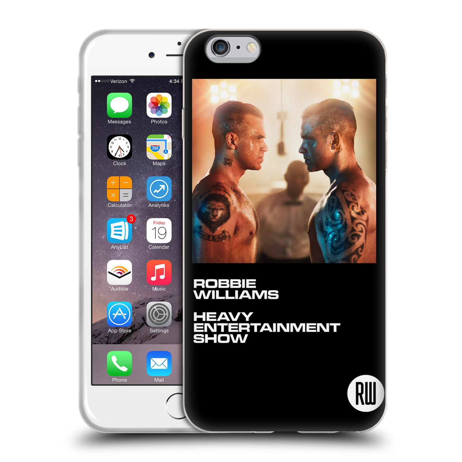 HEAD CASE silikonový obal na mobil Apple Iphone 6/6S PLUS zpěvák Robbie Williams souboj