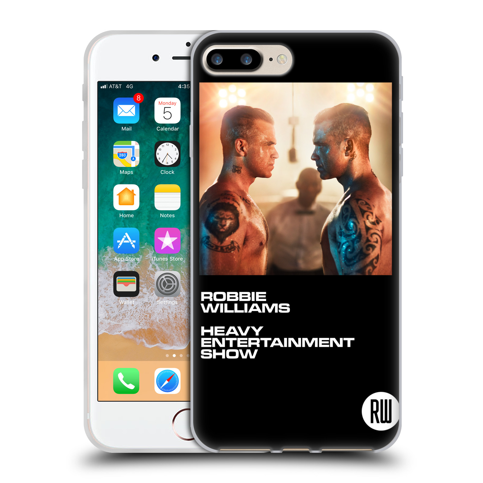 HEAD CASE silikonový obal na mobil Apple Iphone 7 PLUS zpěvák Robbie Williams souboj