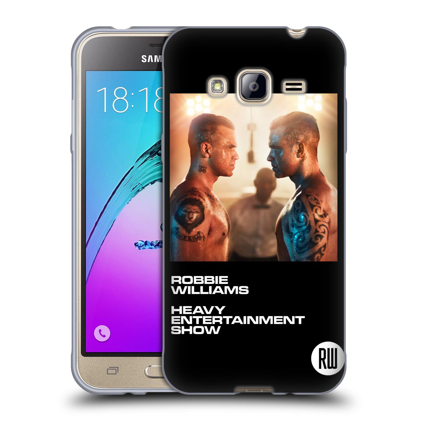 HEAD CASE silikonový obal na mobil Samsung Galaxy J3, J3 2016 zpěvák Robbie Williams souboj