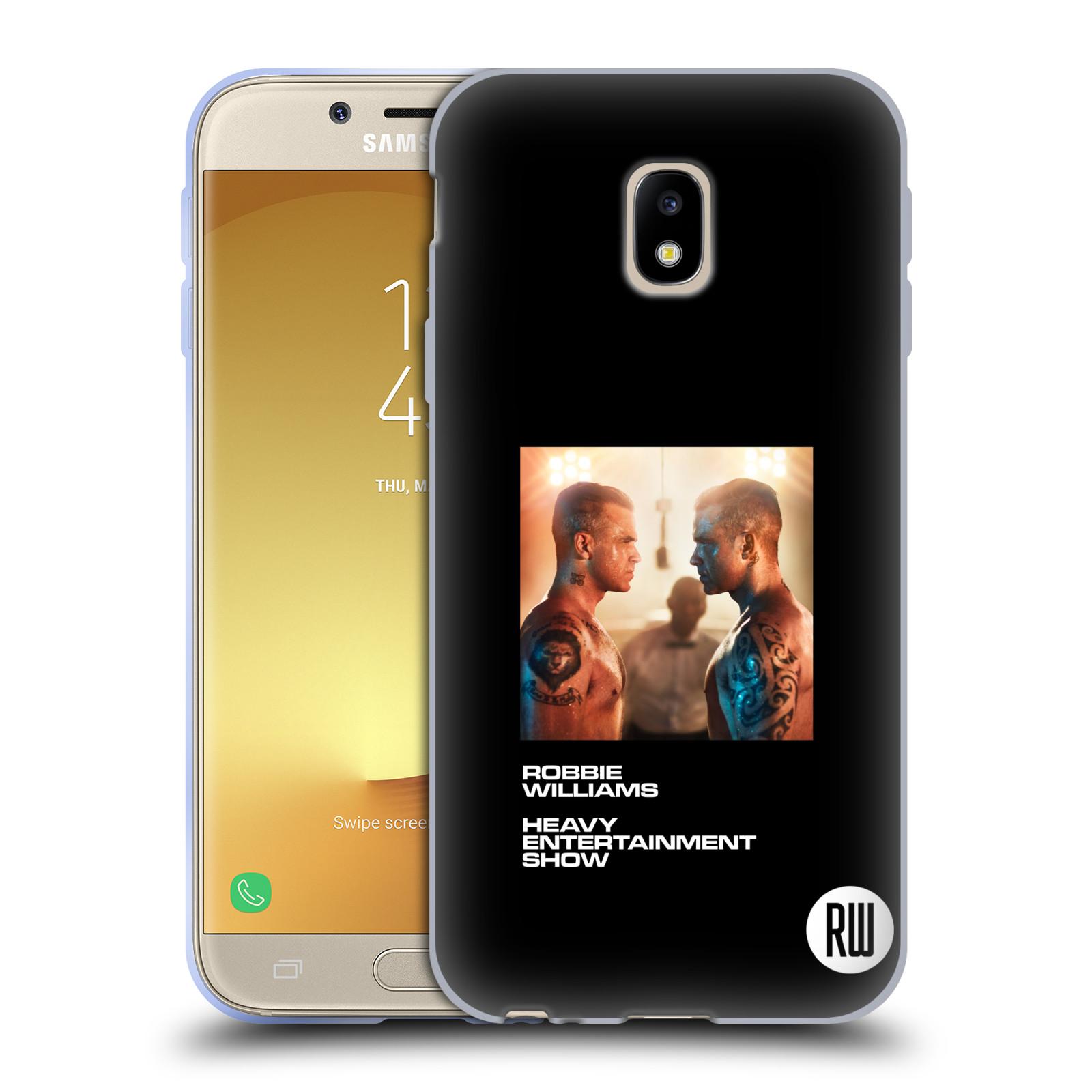 HEAD CASE silikonový obal na mobil Samsung Galaxy J3 2017 (J330, J330F) zpěvák Robbie Williams souboj