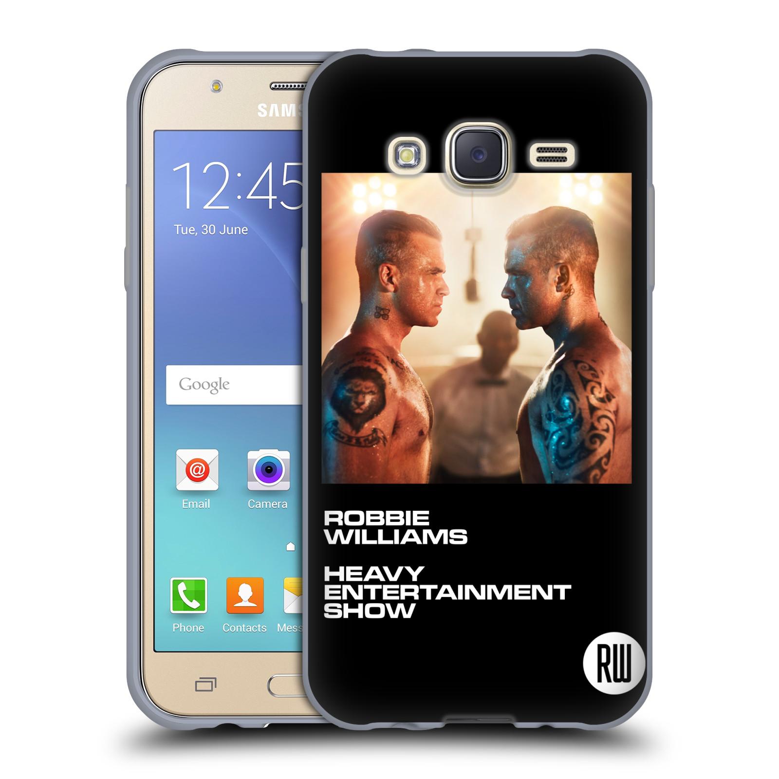 HEAD CASE silikonový obal na mobil Samsung Galaxy J5 2015 (J500) zpěvák Robbie Williams souboj