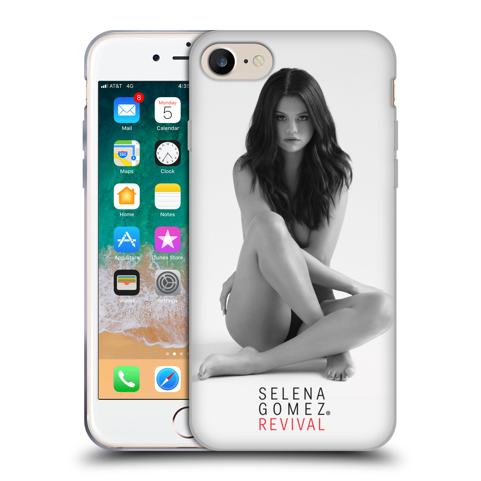HEAD CASE silikonový obal na mobil Apple Iphone 7 Zpěvačka Selena Gomez foto Revival