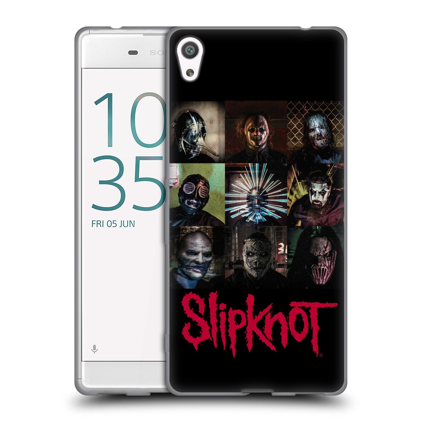 HEAD CASE silikonový obal na mobil Sony Xperia XA ULTRA hudební skupina Slipknot logo velké