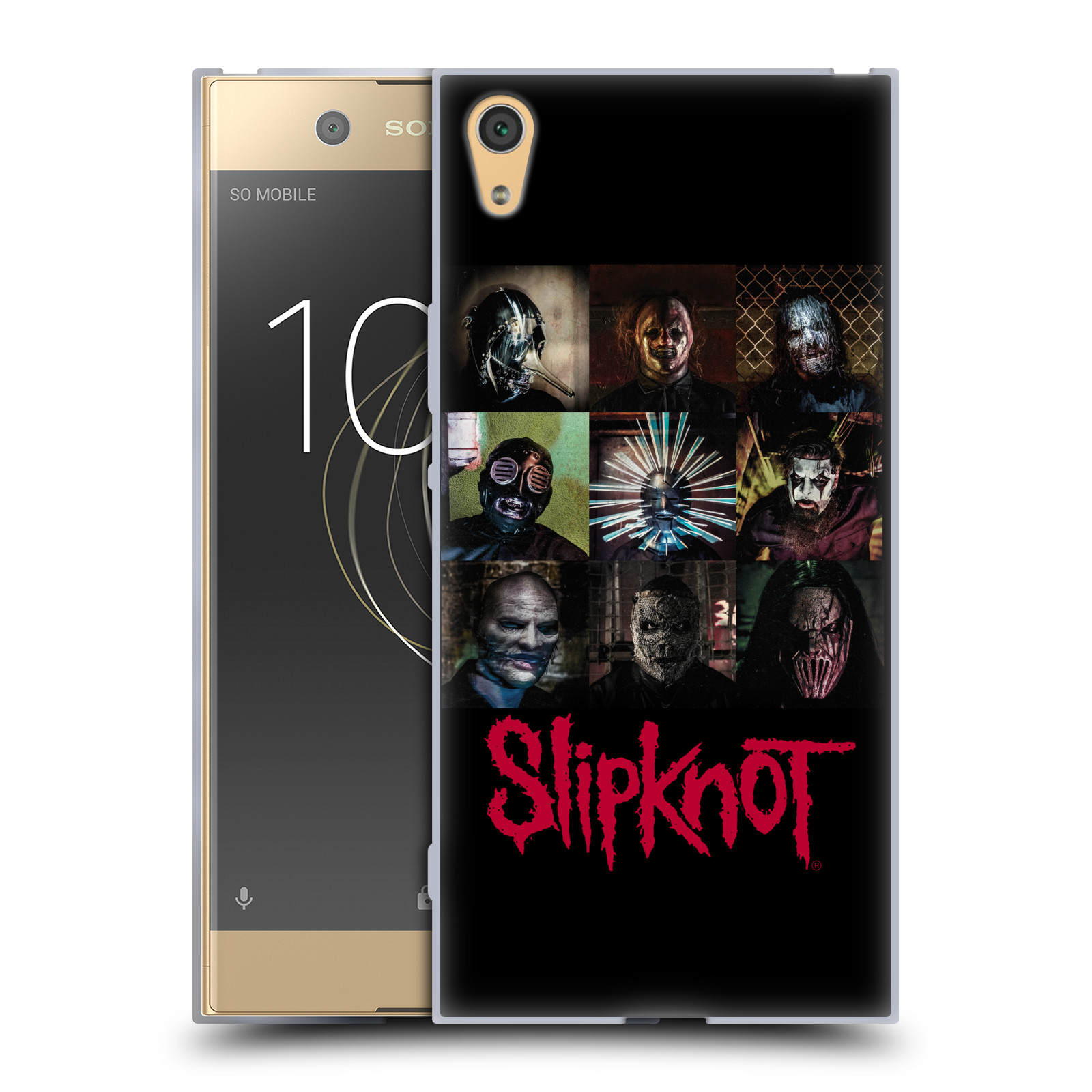 HEAD CASE silikonový obal na mobil Sony Xperia XA1 ULTRA hudební skupina Slipknot logo velké