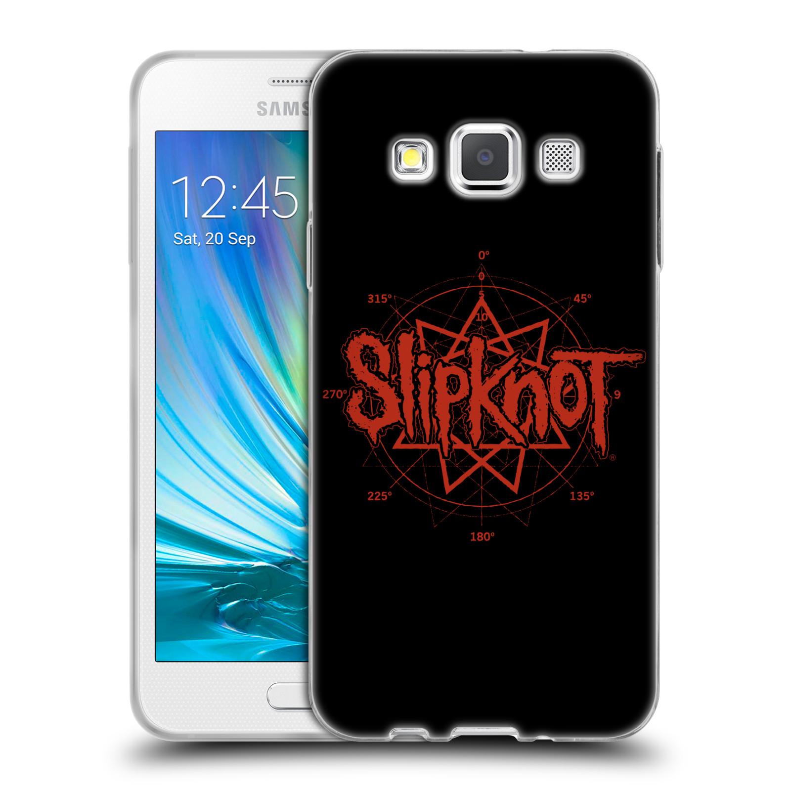 HEAD CASE silikonový obal na mobil Samsung Galaxy A3 (A300) hudební skupina Slipknot logo