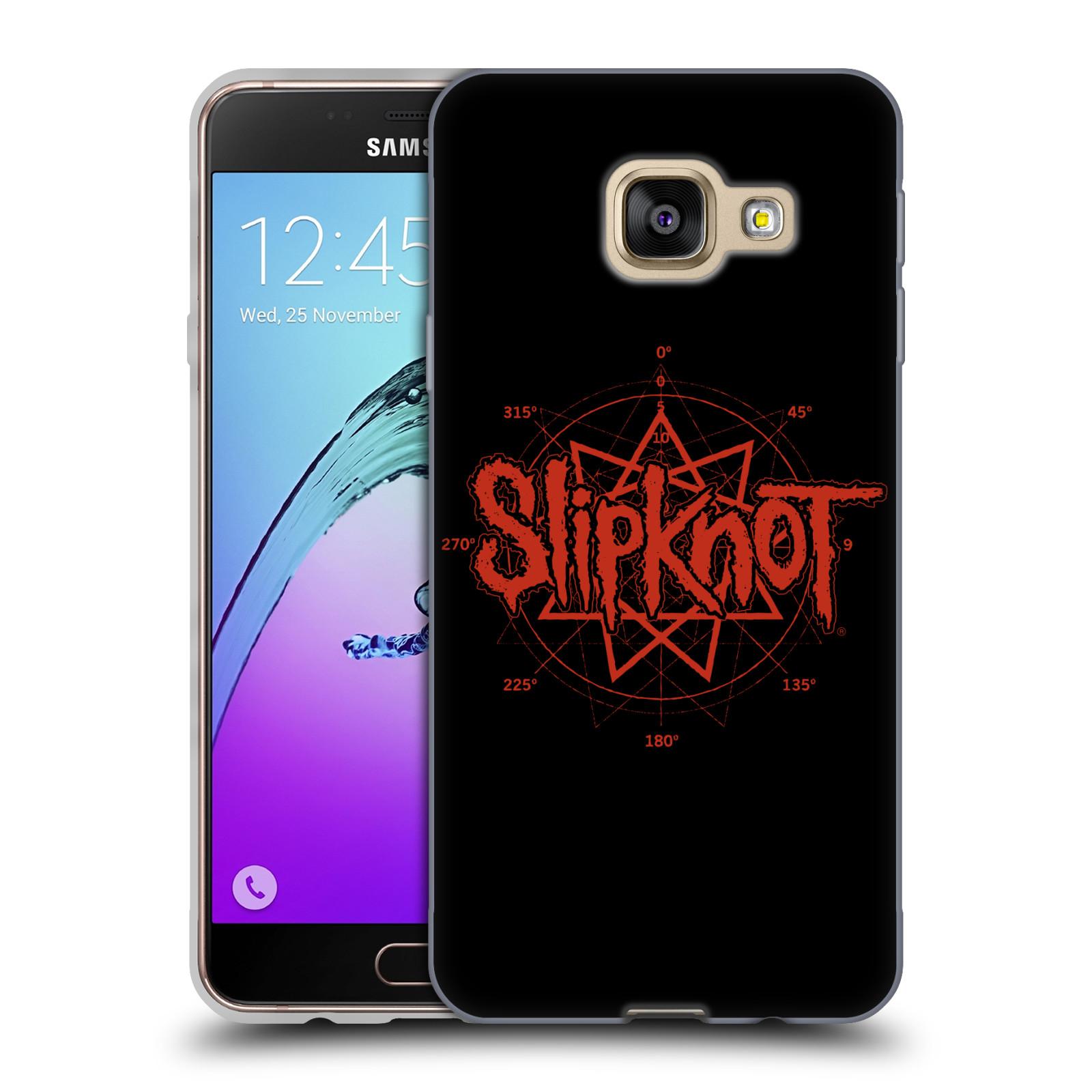 HEAD CASE silikonový obal na mobil Samsung Galaxy A3 2016 (A310) hudební skupina Slipknot logo