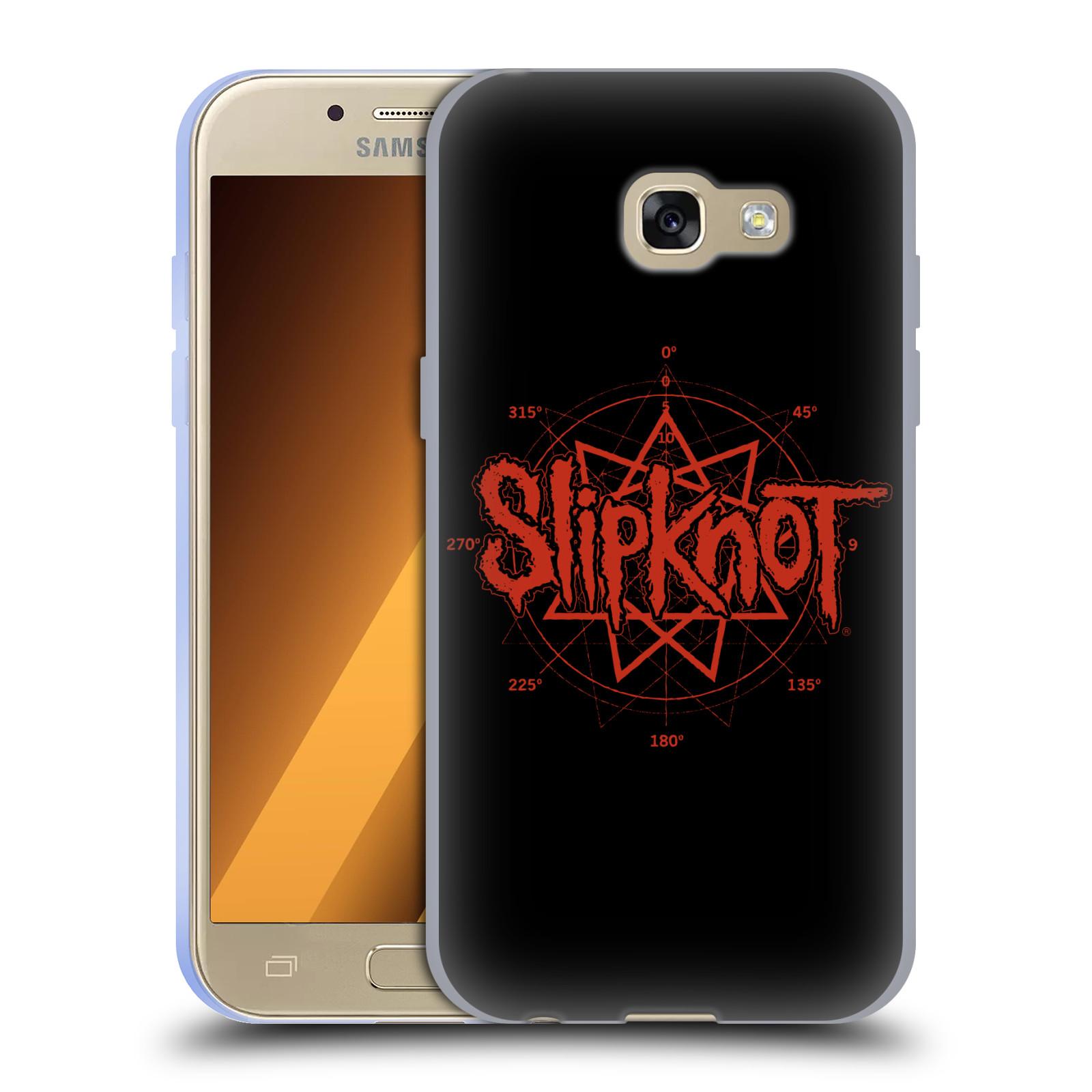 HEAD CASE silikonový obal na mobil Samsung Galaxy A3 2017 (A320) hudební skupina Slipknot logo