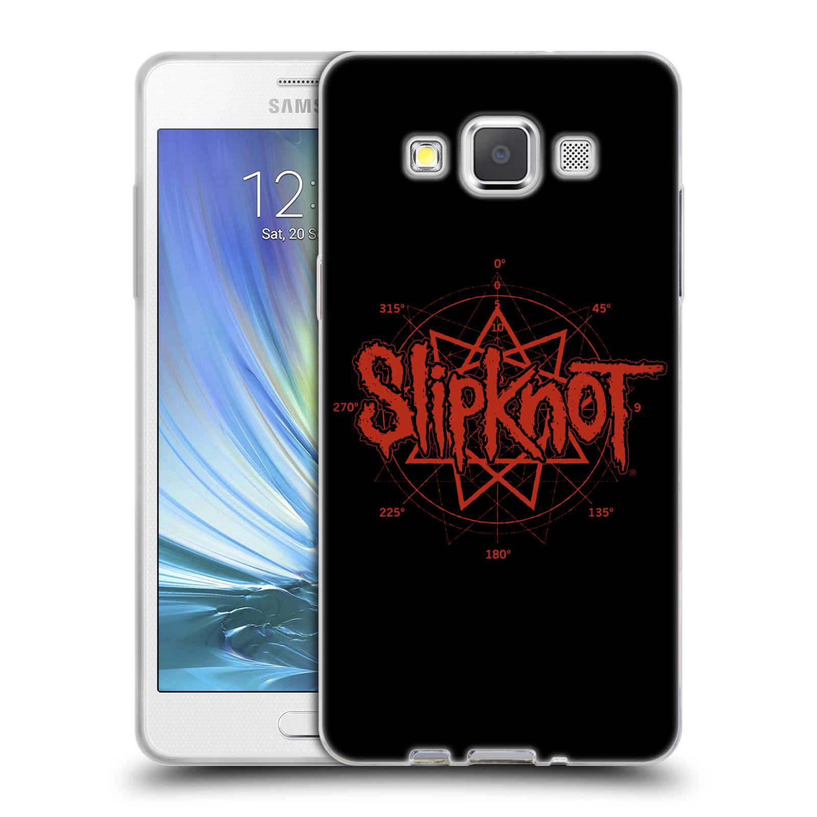 HEAD CASE silikonový obal na mobil Samsung Galaxy A5 (A500) hudební skupina Slipknot logo