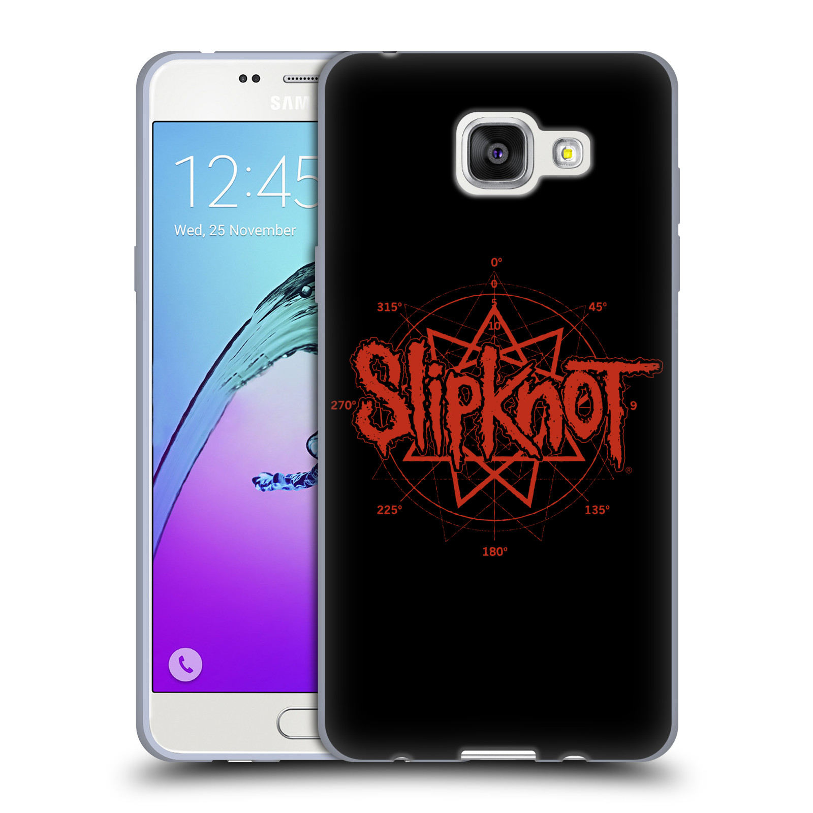HEAD CASE silikonový obal na mobil Samsung Galaxy A5 2016 (A510) hudební skupina Slipknot logo