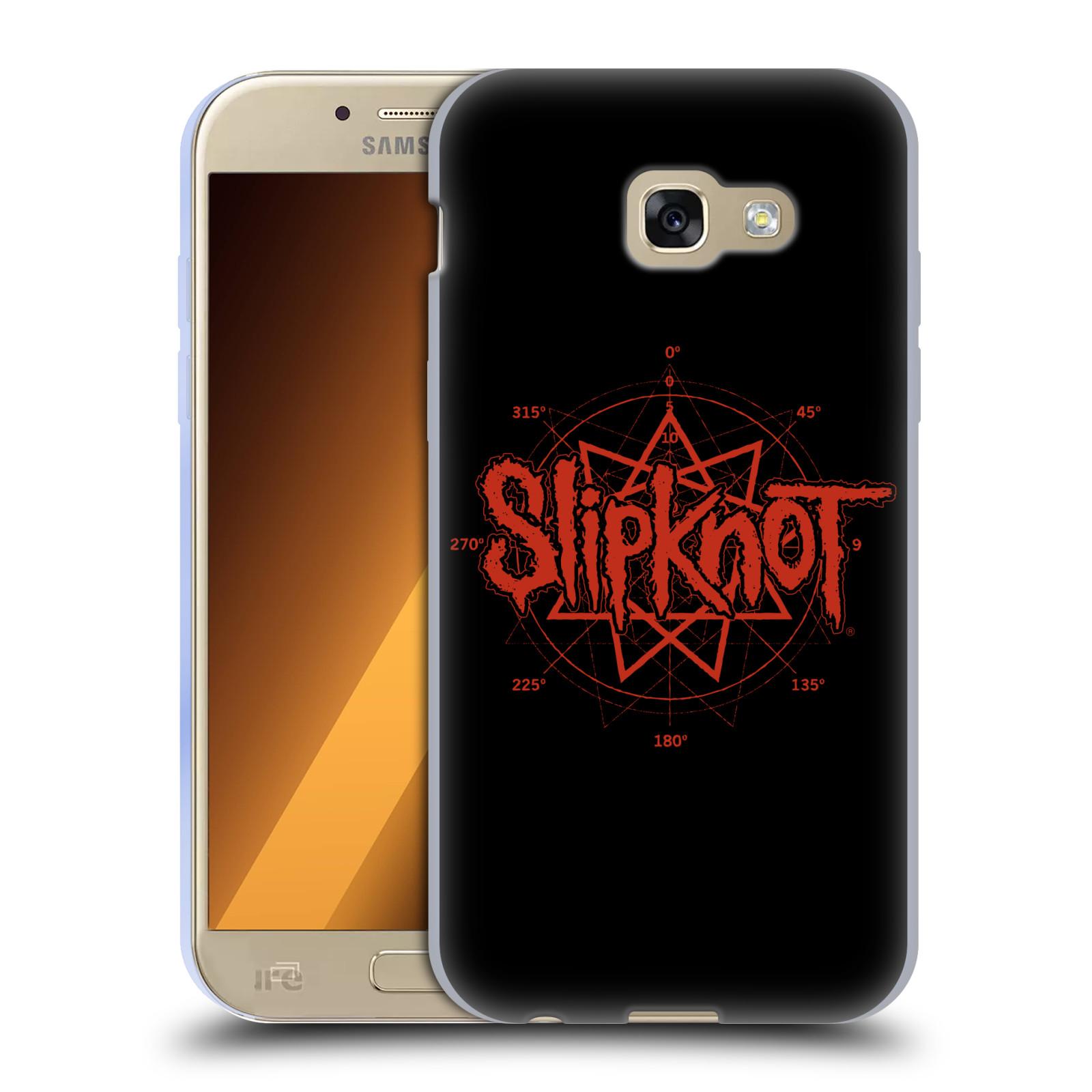 HEAD CASE silikonový obal na mobil Samsung Galaxy A5 2017 (A520) hudební skupina Slipknot logo