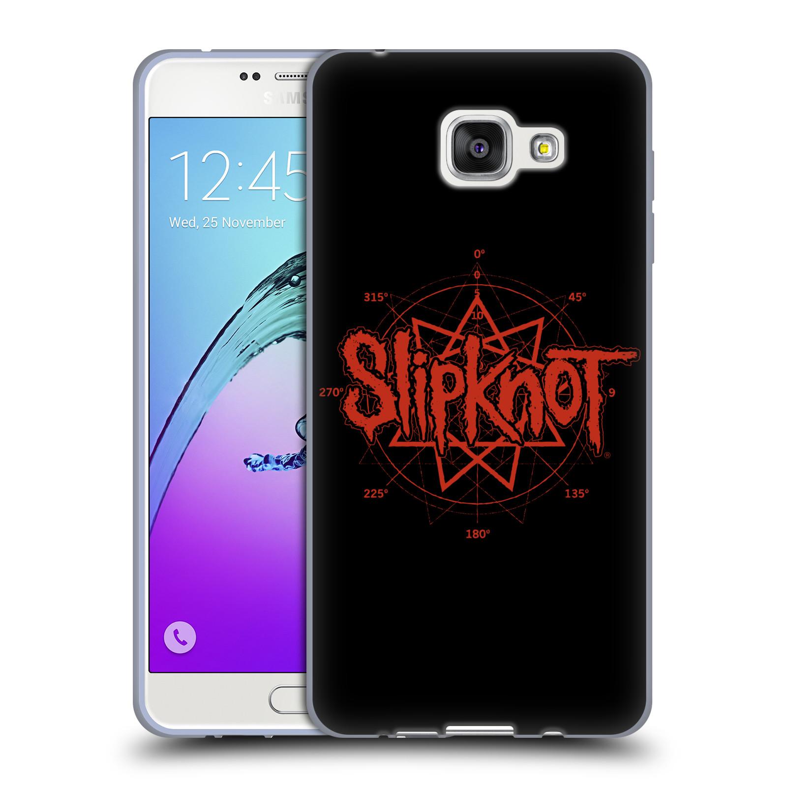 HEAD CASE silikonový obal na mobil Samsung Galaxy A7 2016 (A710) hudební skupina Slipknot logo