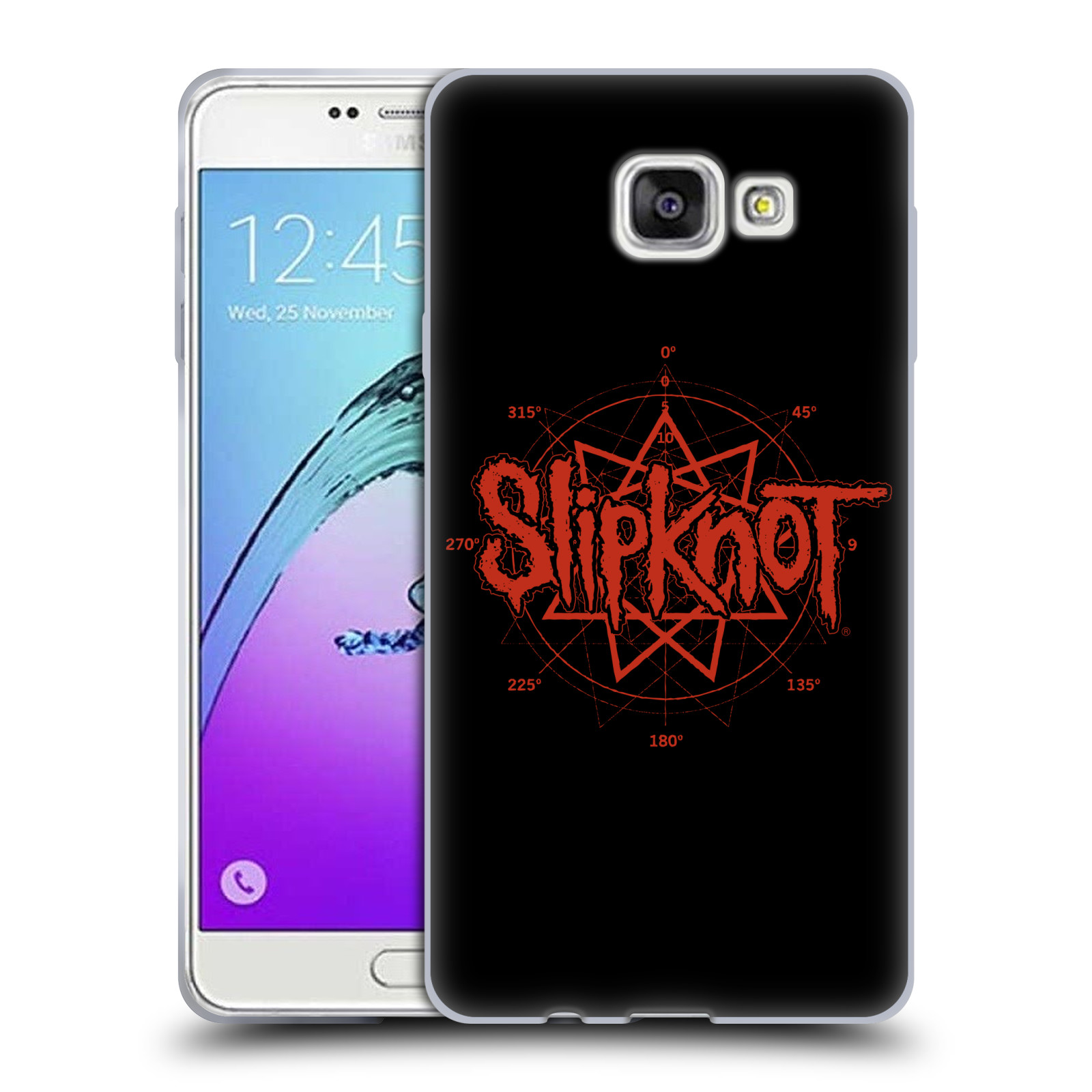 HEAD CASE silikonový obal na mobil Samsung Galaxy A7 2017 (A720) hudební skupina Slipknot logo