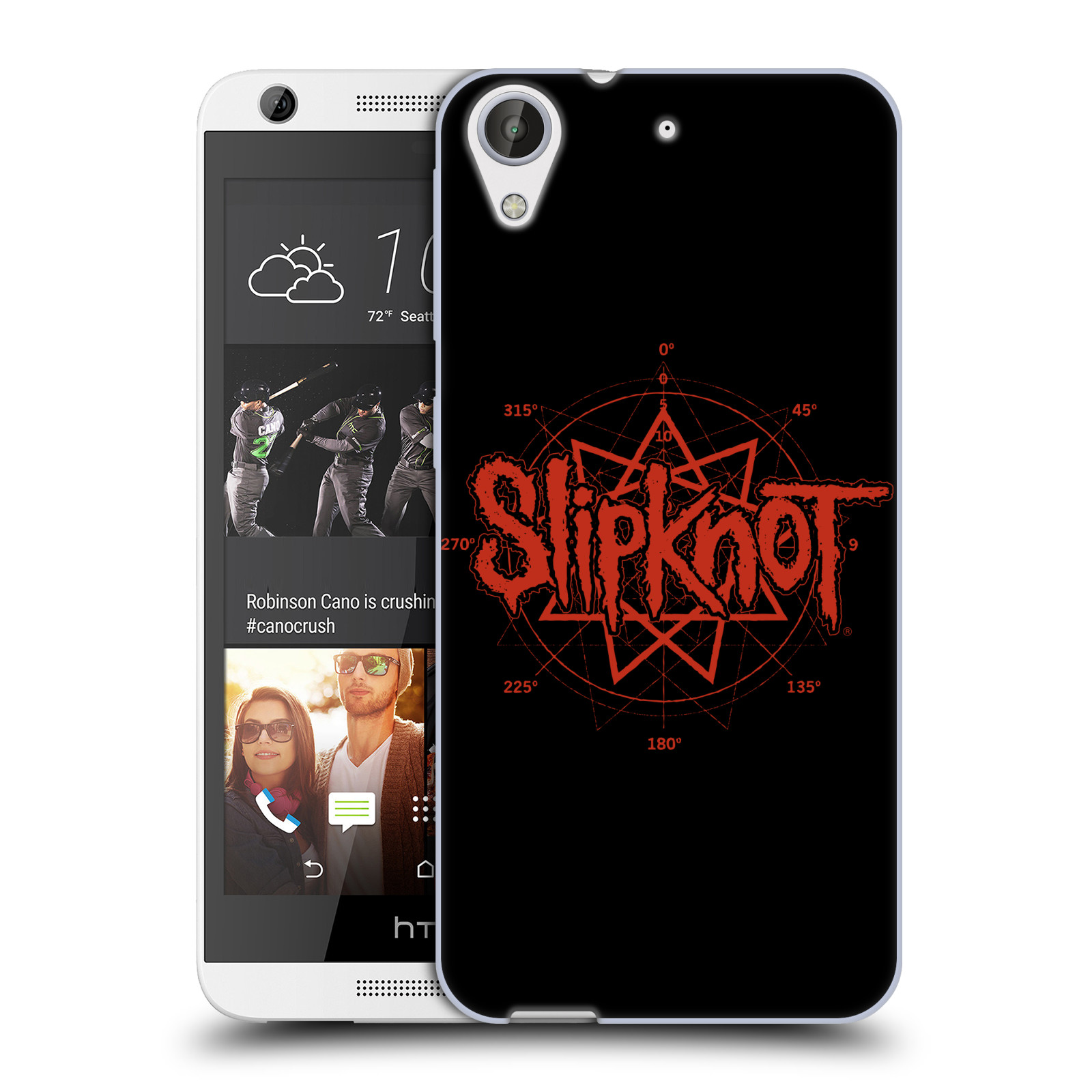 HEAD CASE silikonový obal na mobil HTC Desire 626 hudební skupina Slipknot logo