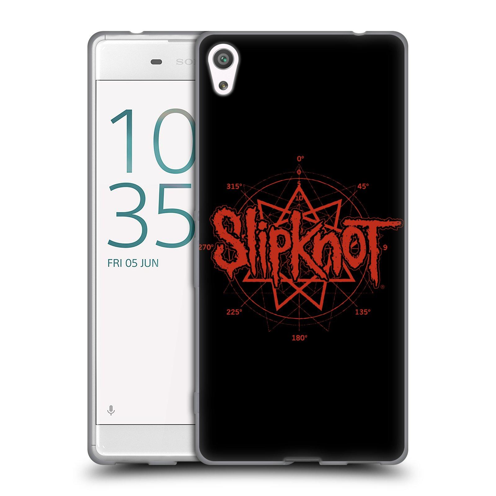 HEAD CASE silikonový obal na mobil Sony Xperia XA ULTRA hudební skupina Slipknot logo