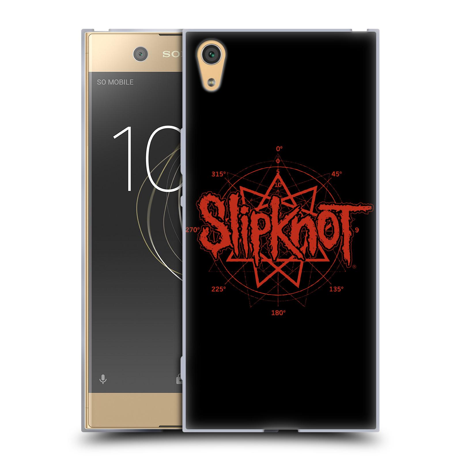 HEAD CASE silikonový obal na mobil Sony Xperia XA1 ULTRA hudební skupina Slipknot logo