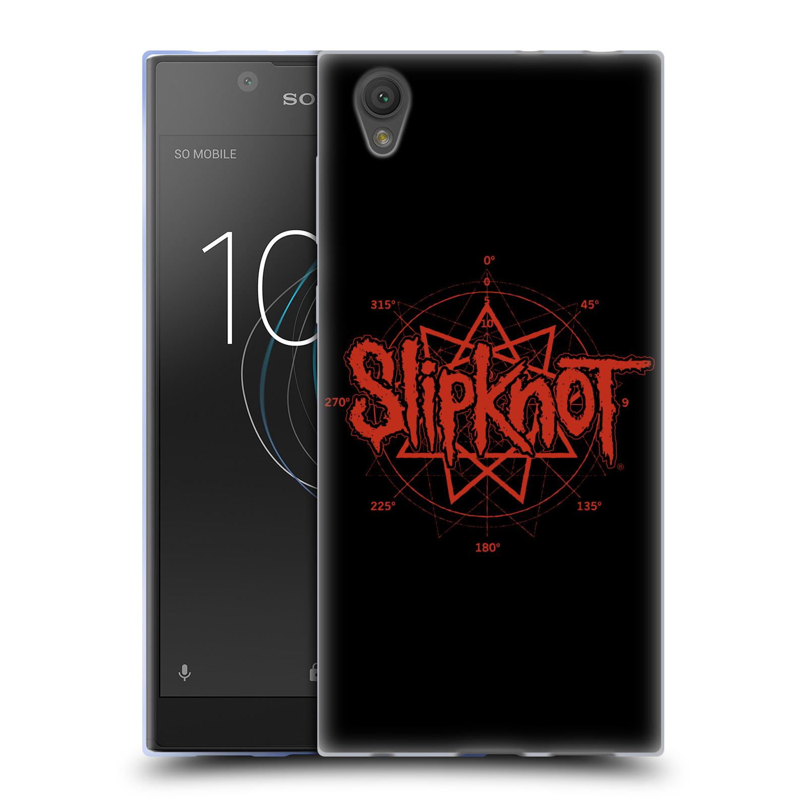 HEAD CASE silikonový obal na mobil Sony Xperia L1 hudební skupina Slipknot logo