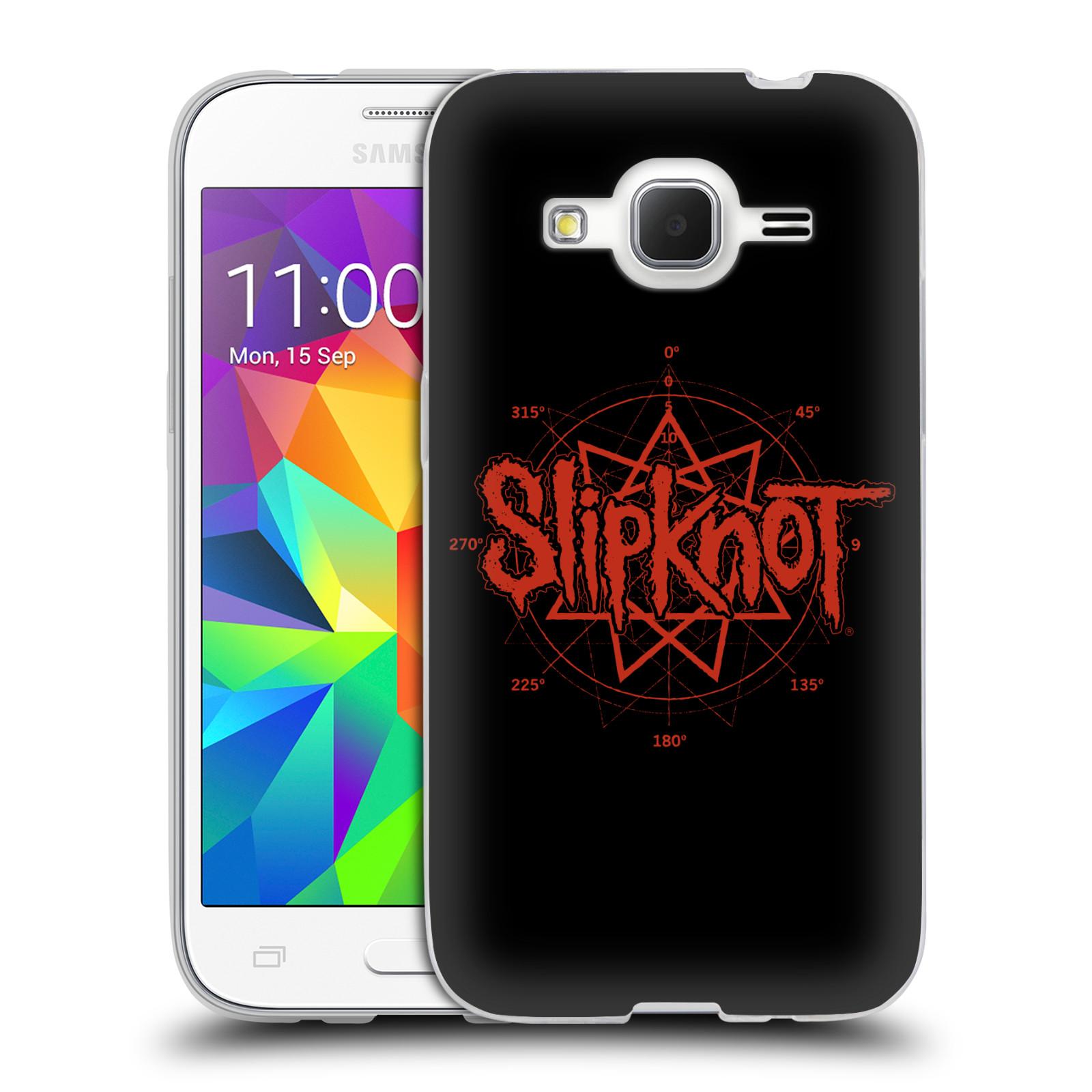 HEAD CASE silikonový obal na mobil Samsung Galaxy Core Prime (G360) hudební skupina Slipknot logo