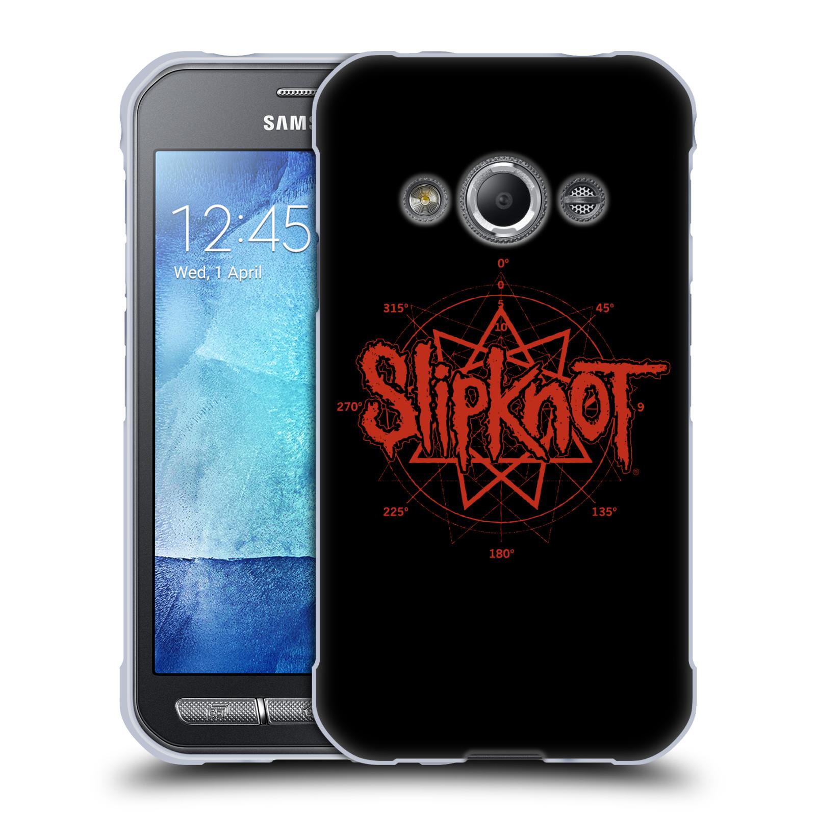 HEAD CASE silikonový obal na mobil Samsung Galaxy Xcover 3 hudební skupina Slipknot logo
