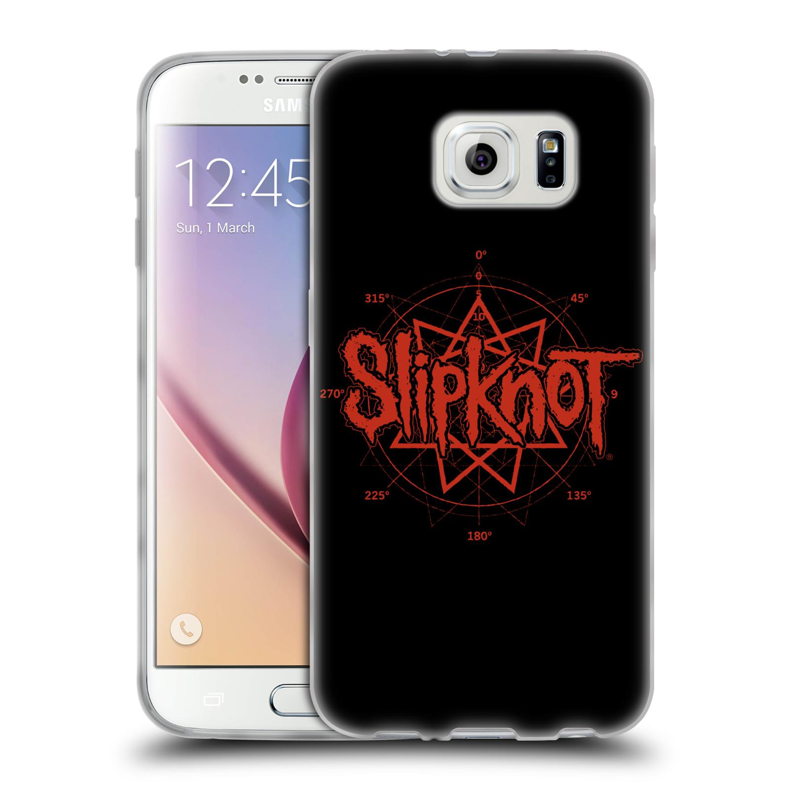 HEAD CASE silikonový obal na mobil Samsung Galaxy S6 hudební skupina Slipknot logo