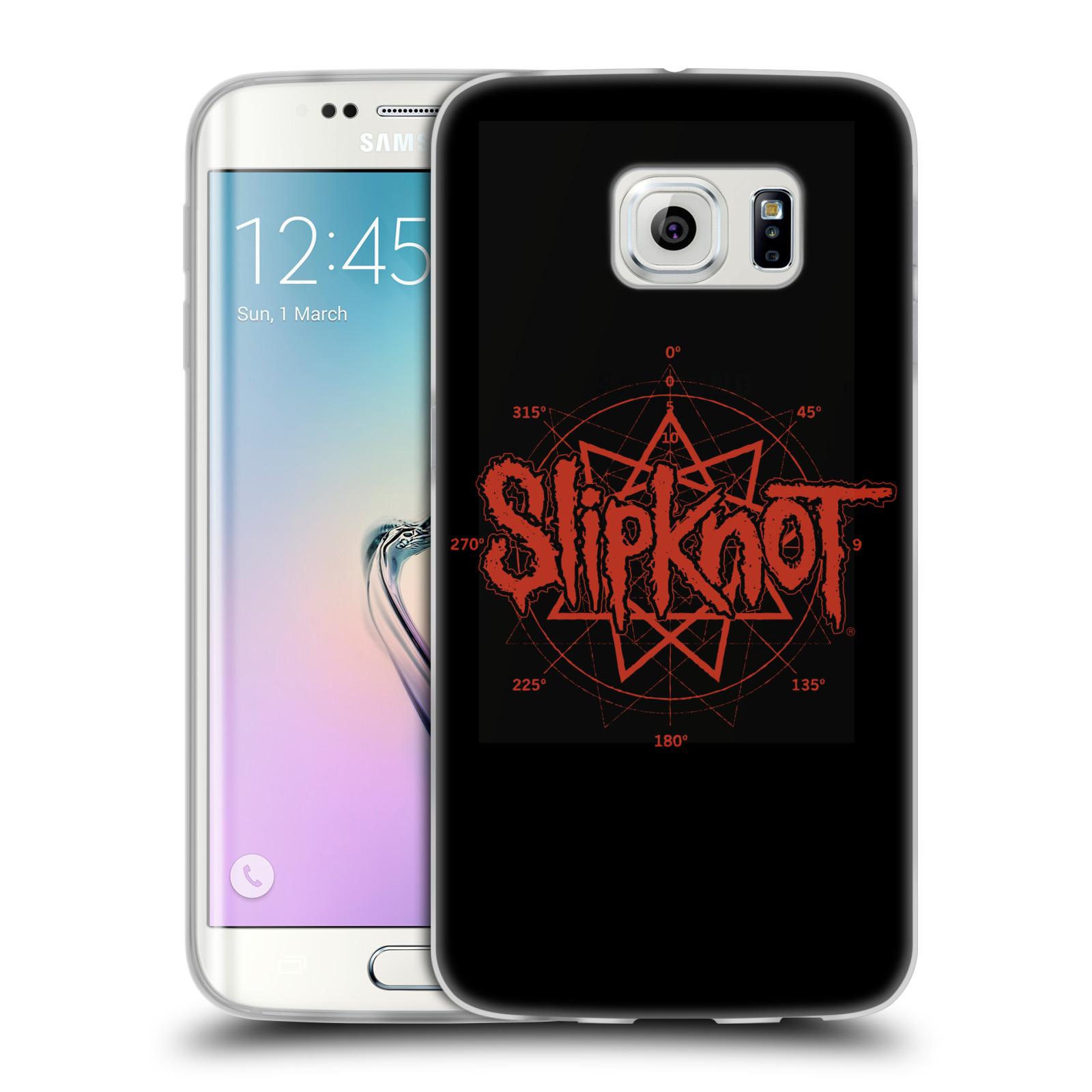 HEAD CASE silikonový obal na mobil Samsung Galaxy S6 EDGE hudební skupina Slipknot logo