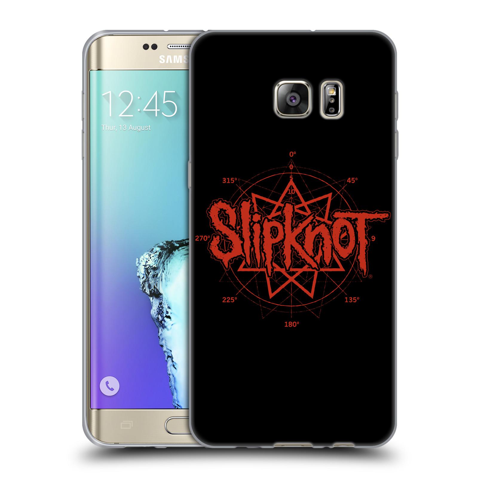 HEAD CASE silikonový obal na mobil Samsung Galaxy S6 EDGE PLUS hudební skupina Slipknot logo