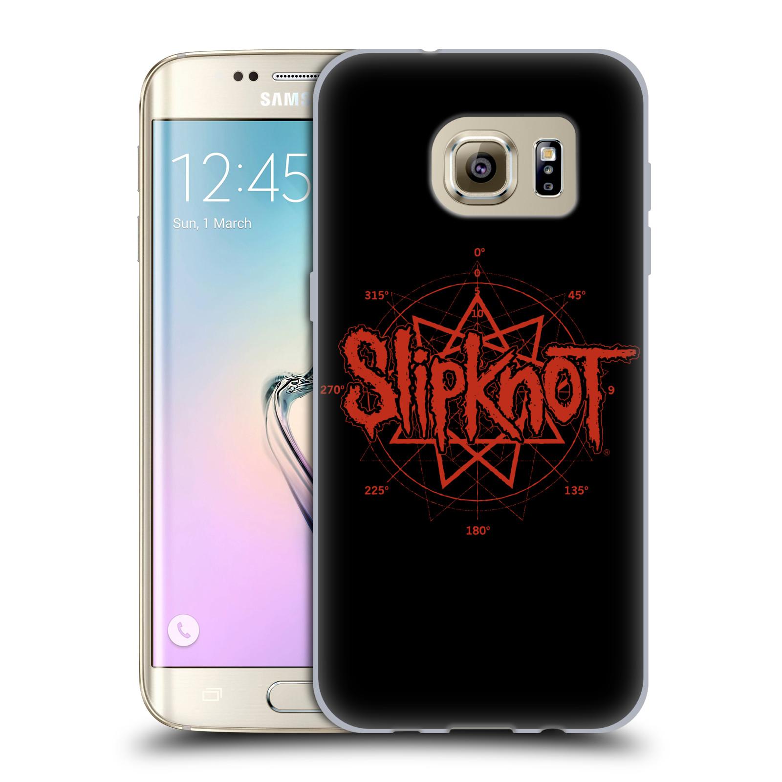 HEAD CASE silikonový obal na mobil Samsung Galaxy S7 EDGE hudební skupina Slipknot logo