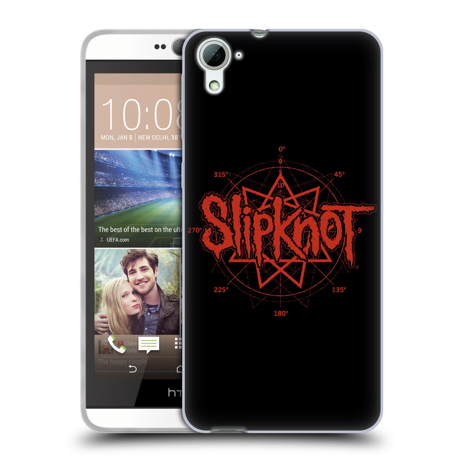 HEAD CASE silikonový obal na mobil HTC Desire 826 hudební skupina Slipknot logo