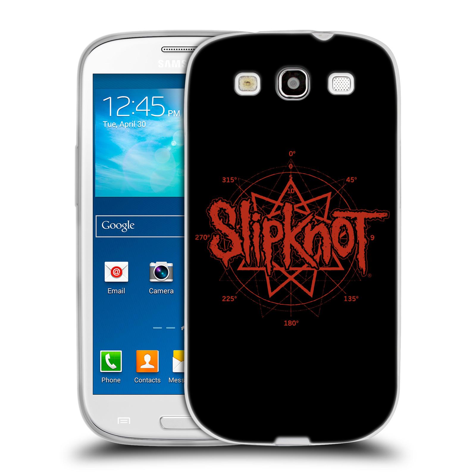 HEAD CASE silikonový obal na mobil Samsung Galaxy S3 hudební skupina Slipknot logo