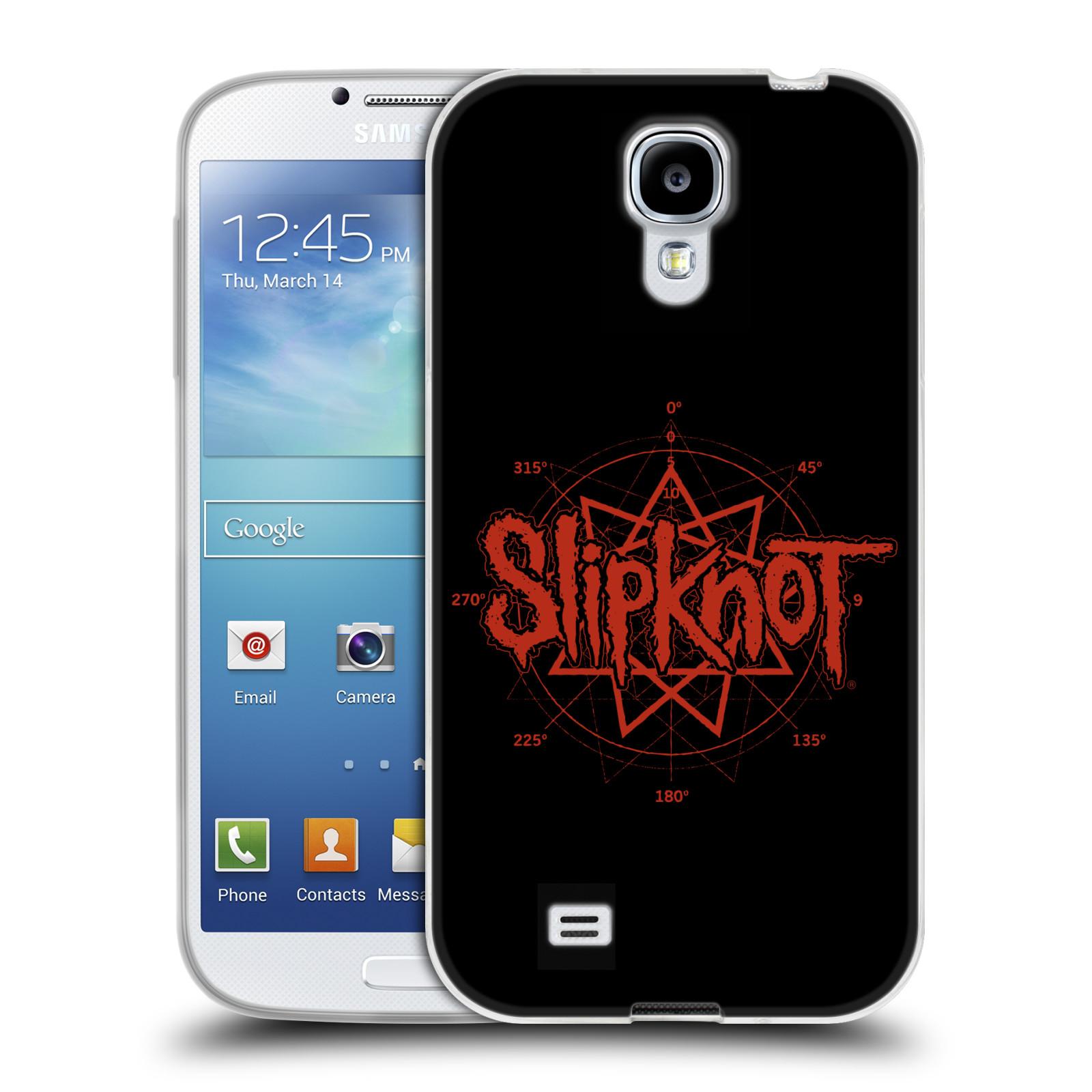 HEAD CASE silikonový obal na mobil Samsung Galaxy S4 hudební skupina Slipknot logo