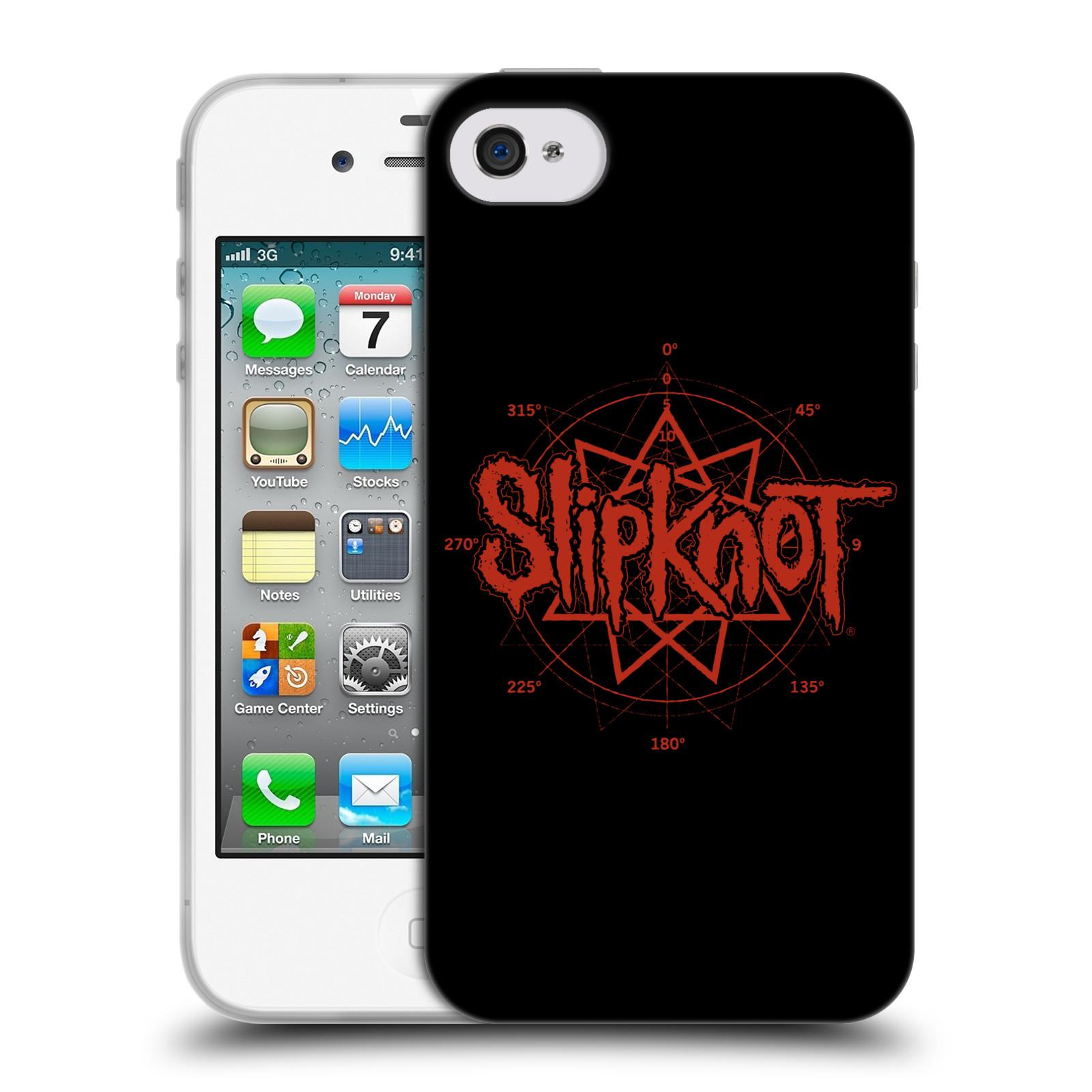 HEAD CASE silikonový obal na mobil Apple Iphone 4/4S hudební skupina Slipknot logo