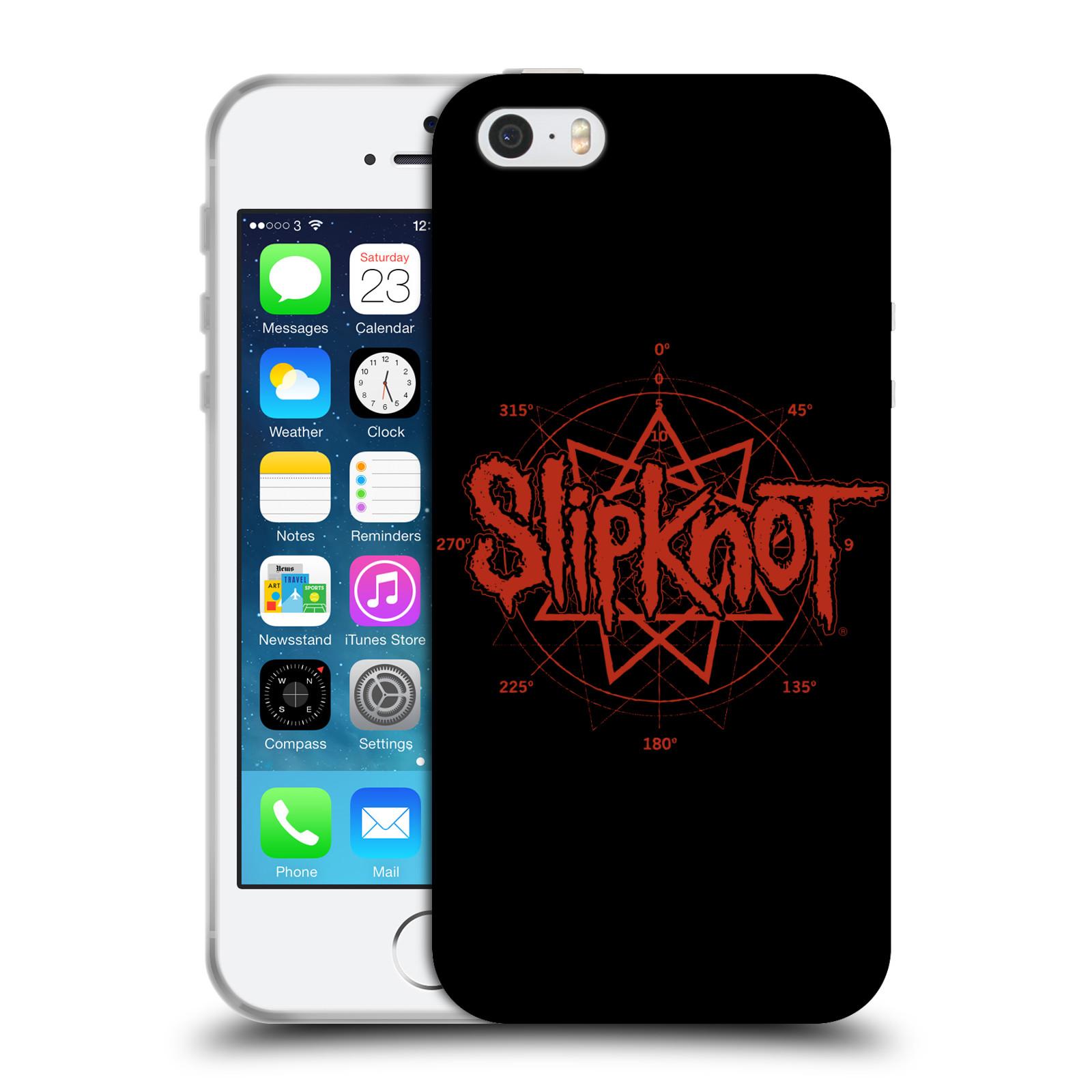 HEAD CASE silikonový obal na mobil Apple Iphone 5/5S hudební skupina Slipknot logo