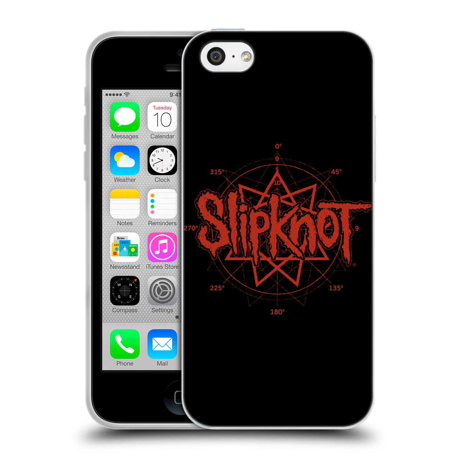 HEAD CASE silikonový obal na mobil Apple Iphone 5C hudební skupina Slipknot logo