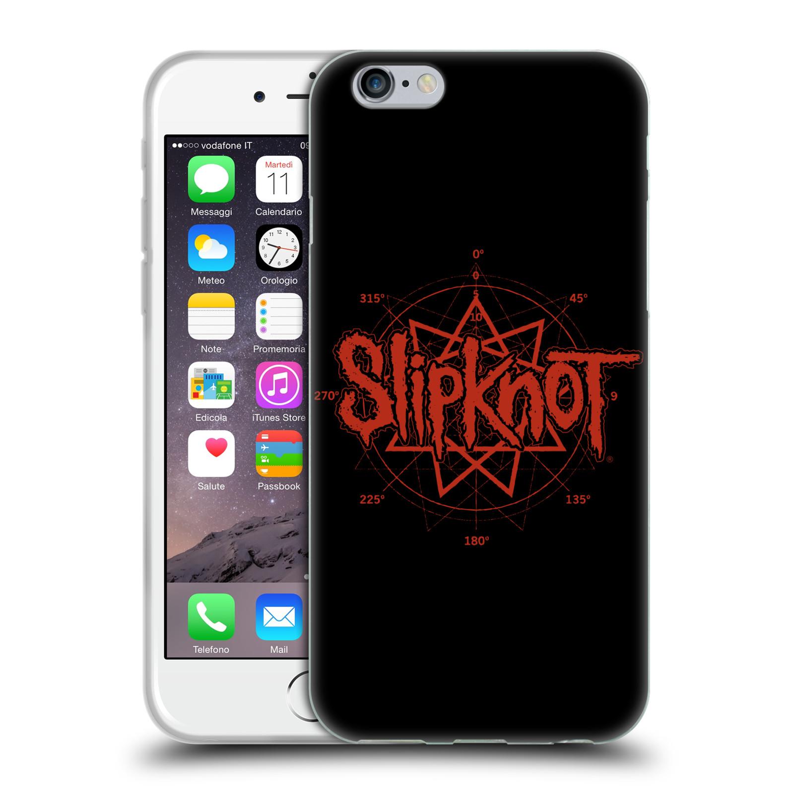 HEAD CASE silikonový obal na mobil Apple Iphone 6/6S hudební skupina Slipknot logo