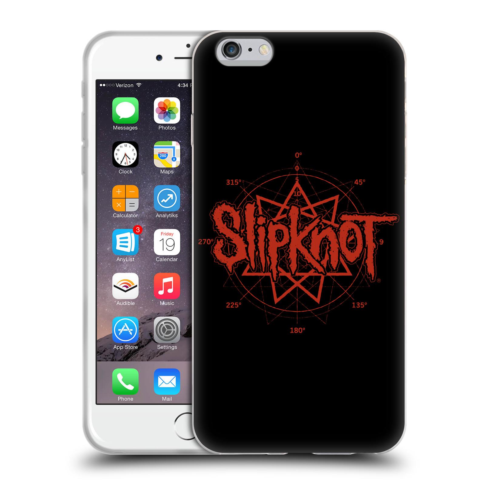 HEAD CASE silikonový obal na mobil Apple Iphone 6/6S PLUS hudební skupina Slipknot logo