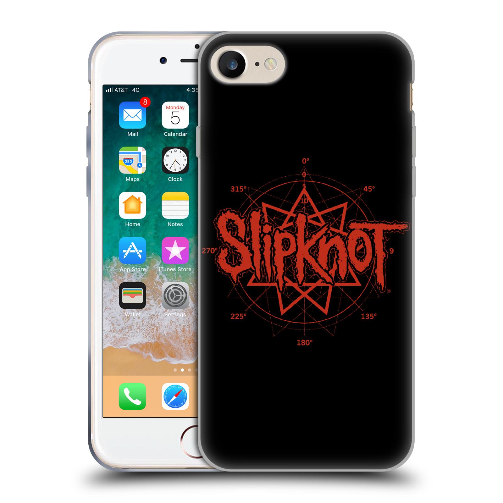 HEAD CASE silikonový obal na mobil Apple Iphone 7 hudební skupina Slipknot logo