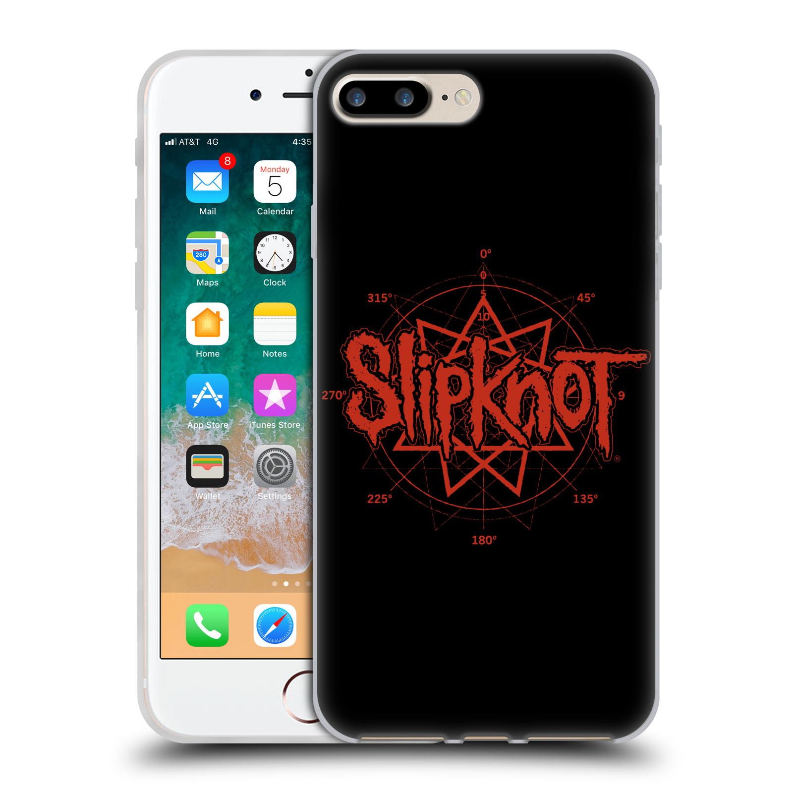 HEAD CASE silikonový obal na mobil Apple Iphone 7 PLUS hudební skupina Slipknot logo