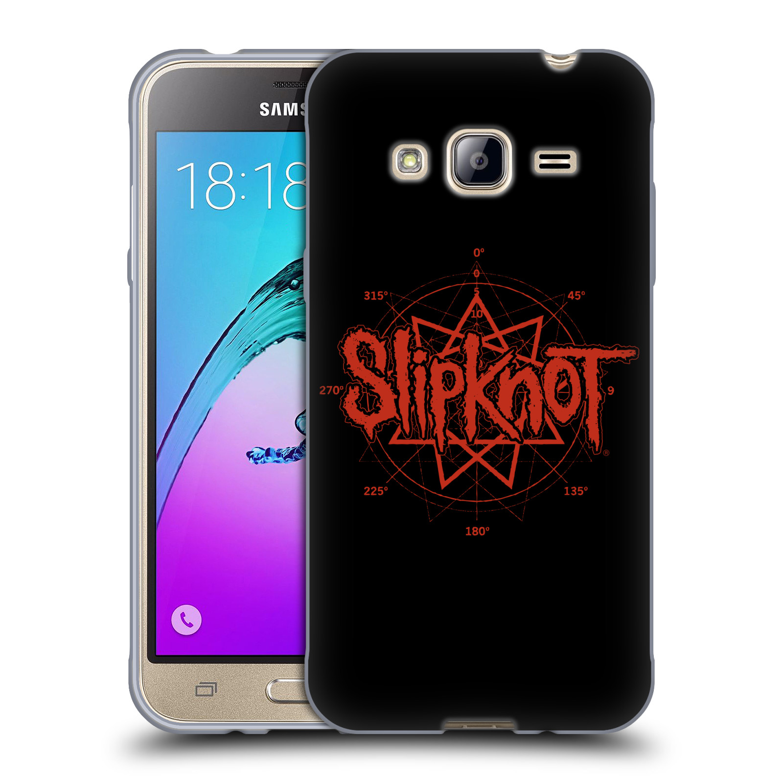 HEAD CASE silikonový obal na mobil Samsung Galaxy J3, J3 2016 hudební skupina Slipknot logo