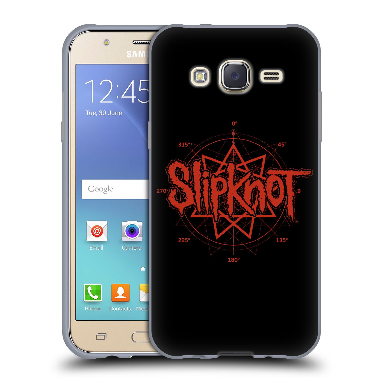 HEAD CASE silikonový obal na mobil Samsung Galaxy J5 2015 (J500) hudební skupina Slipknot logo