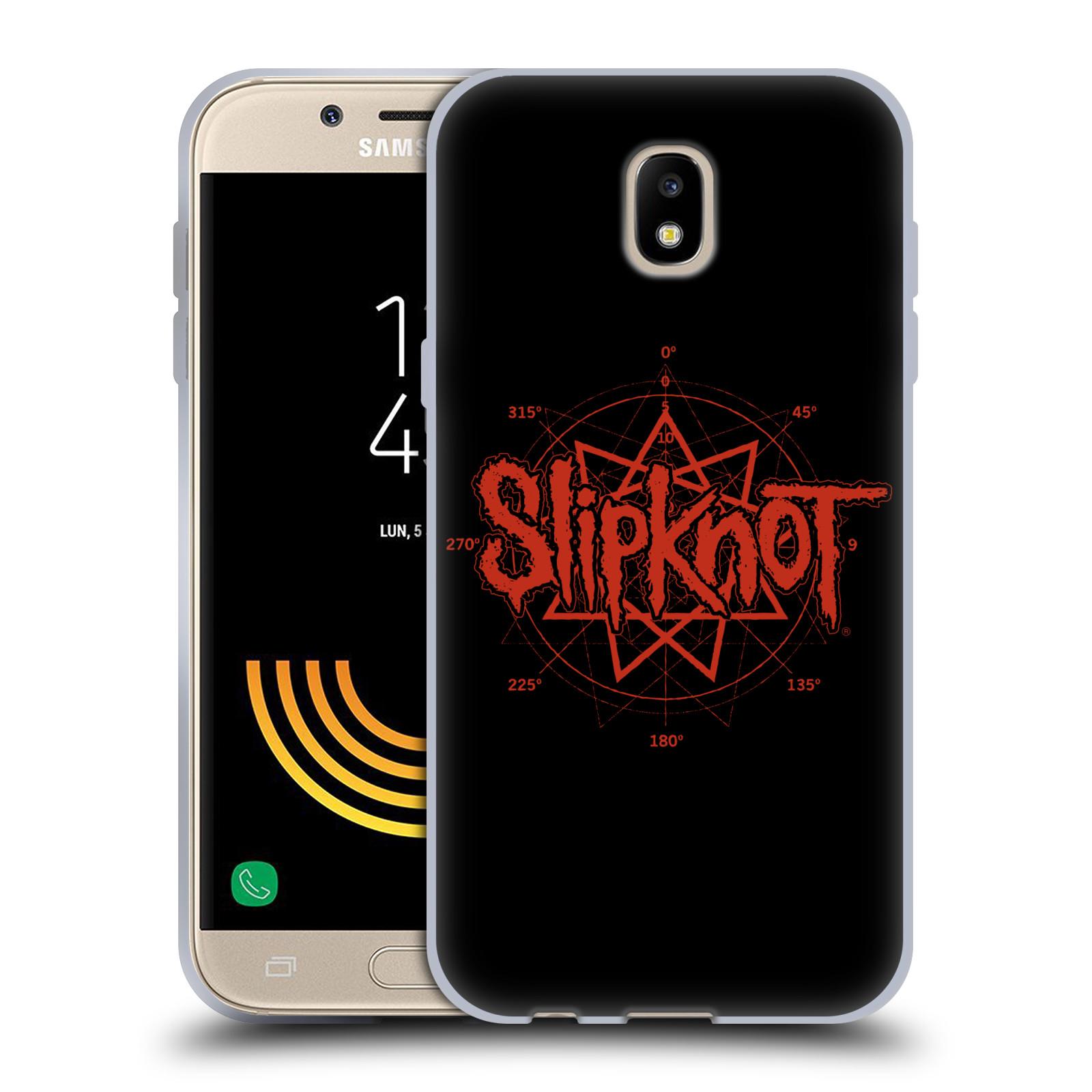 HEAD CASE silikonový obal na mobil Samsung Galaxy J5 2017 hudební skupina Slipknot logo