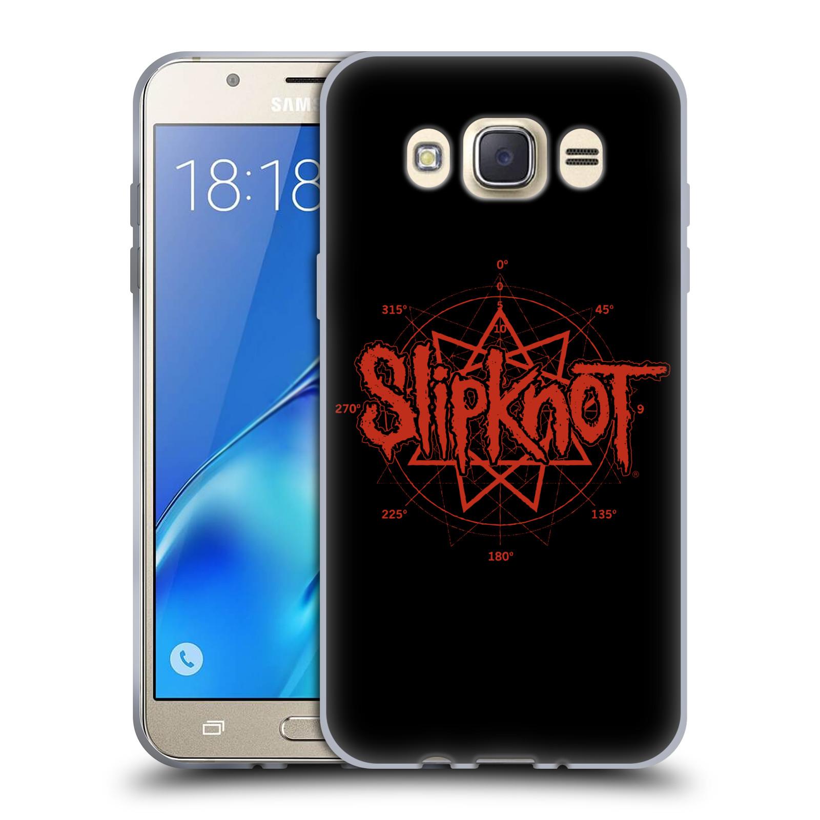 HEAD CASE silikonový obal na mobil Samsung Galaxy J7 2016 hudební skupina Slipknot logo