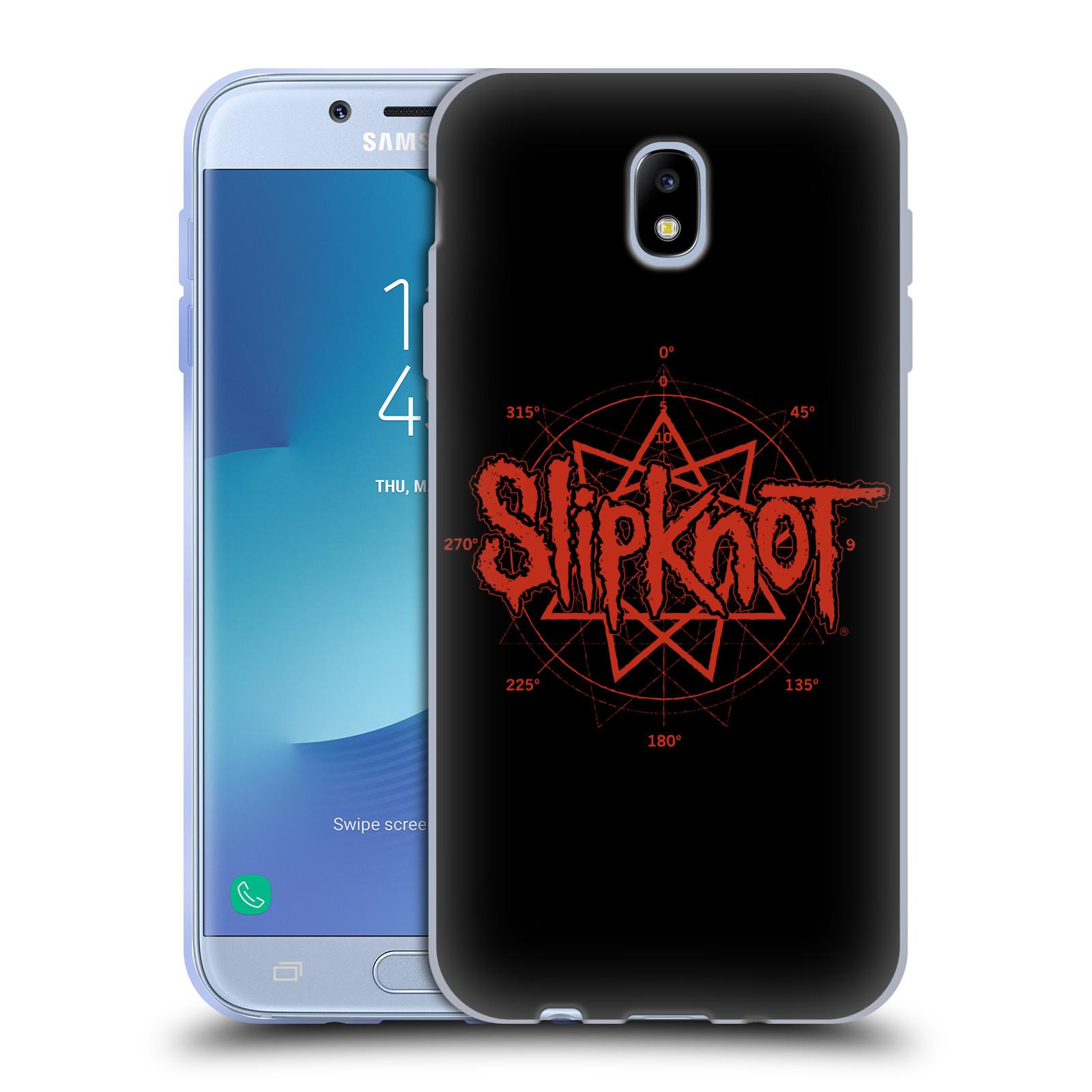 HEAD CASE silikonový obal na mobil Samsung Galaxy J7 2017 hudební skupina Slipknot logo