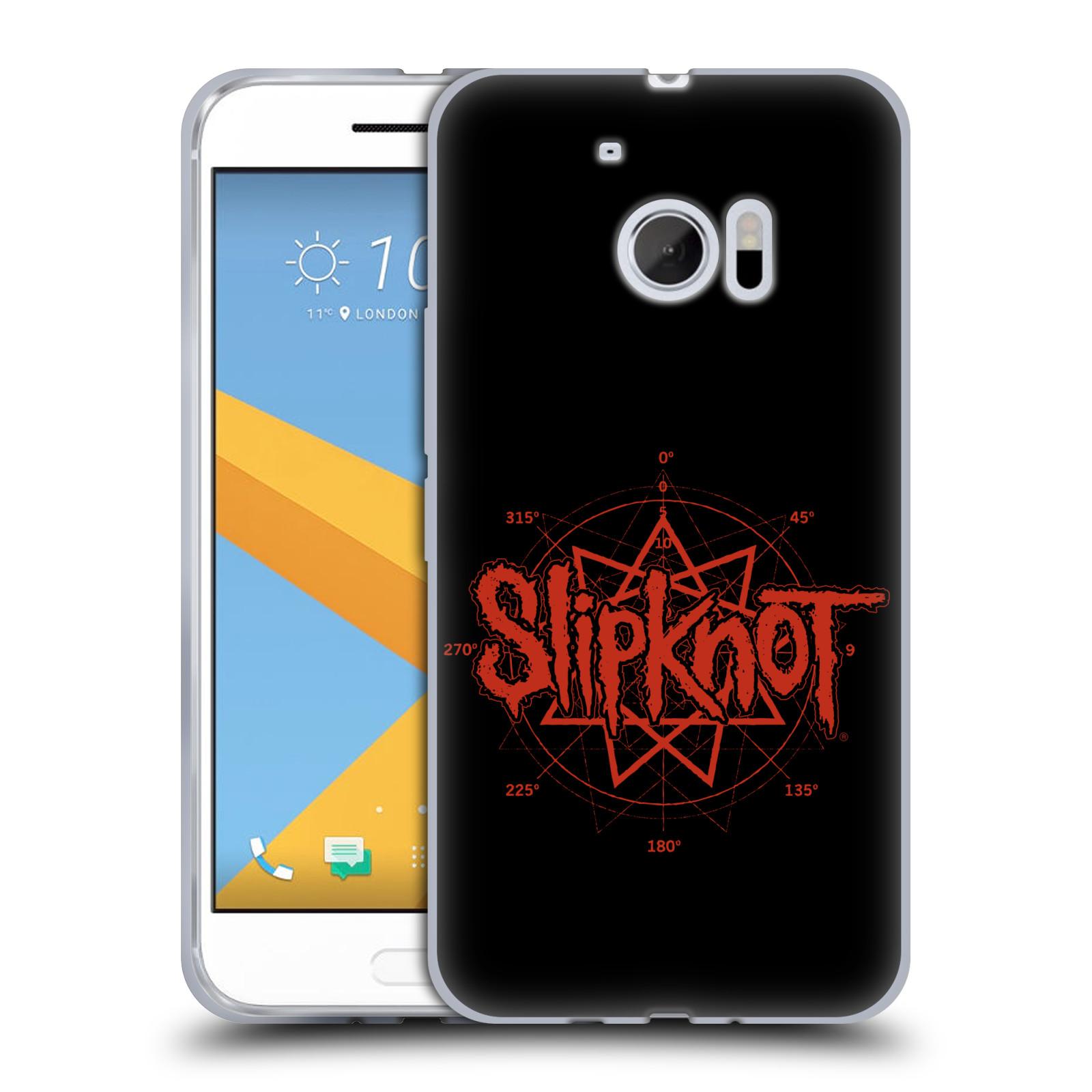 HEAD CASE silikonový obal na mobil HTC 10 hudební skupina Slipknot logo