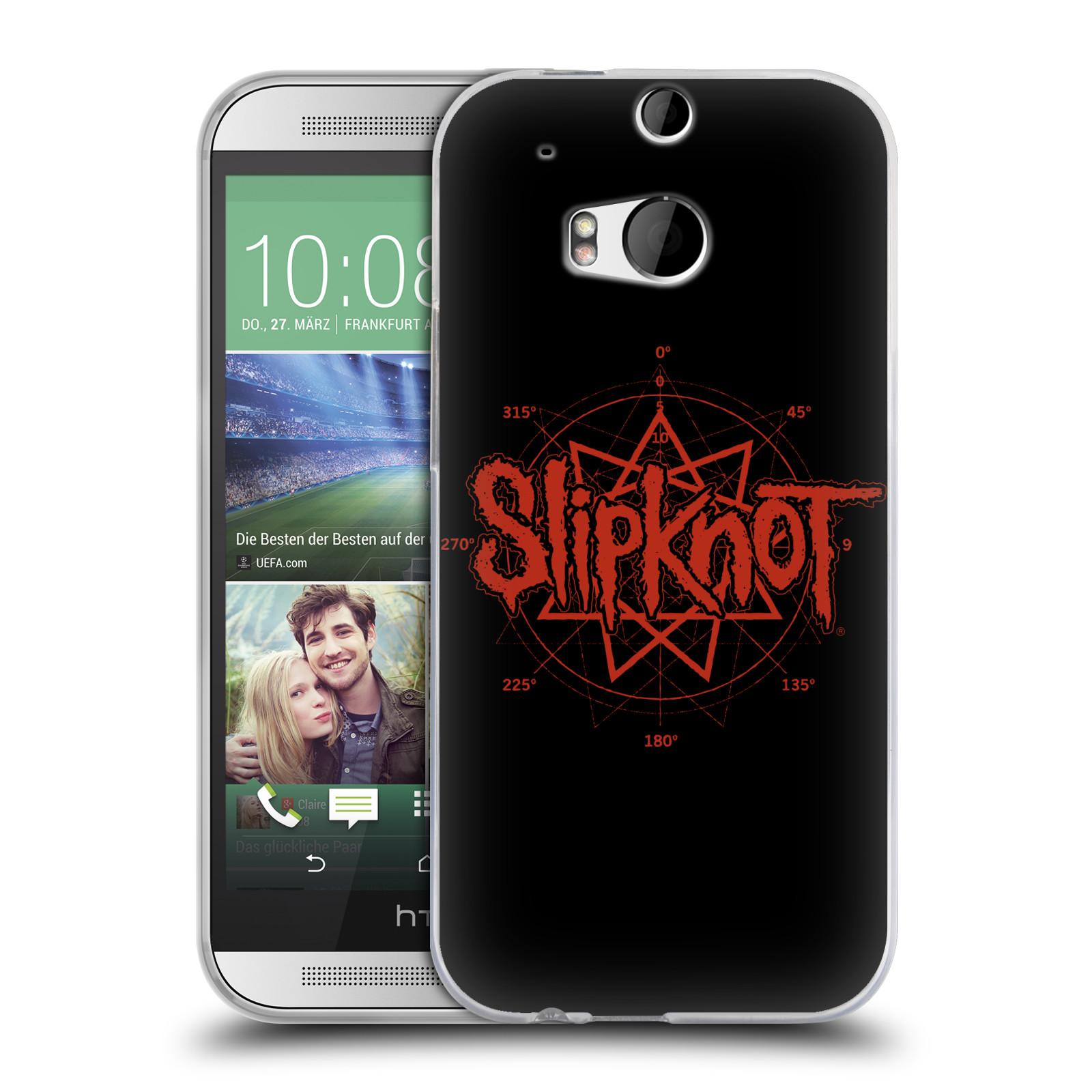 HEAD CASE silikonový obal na mobil HTC one M8 / M8s hudební skupina Slipknot logo