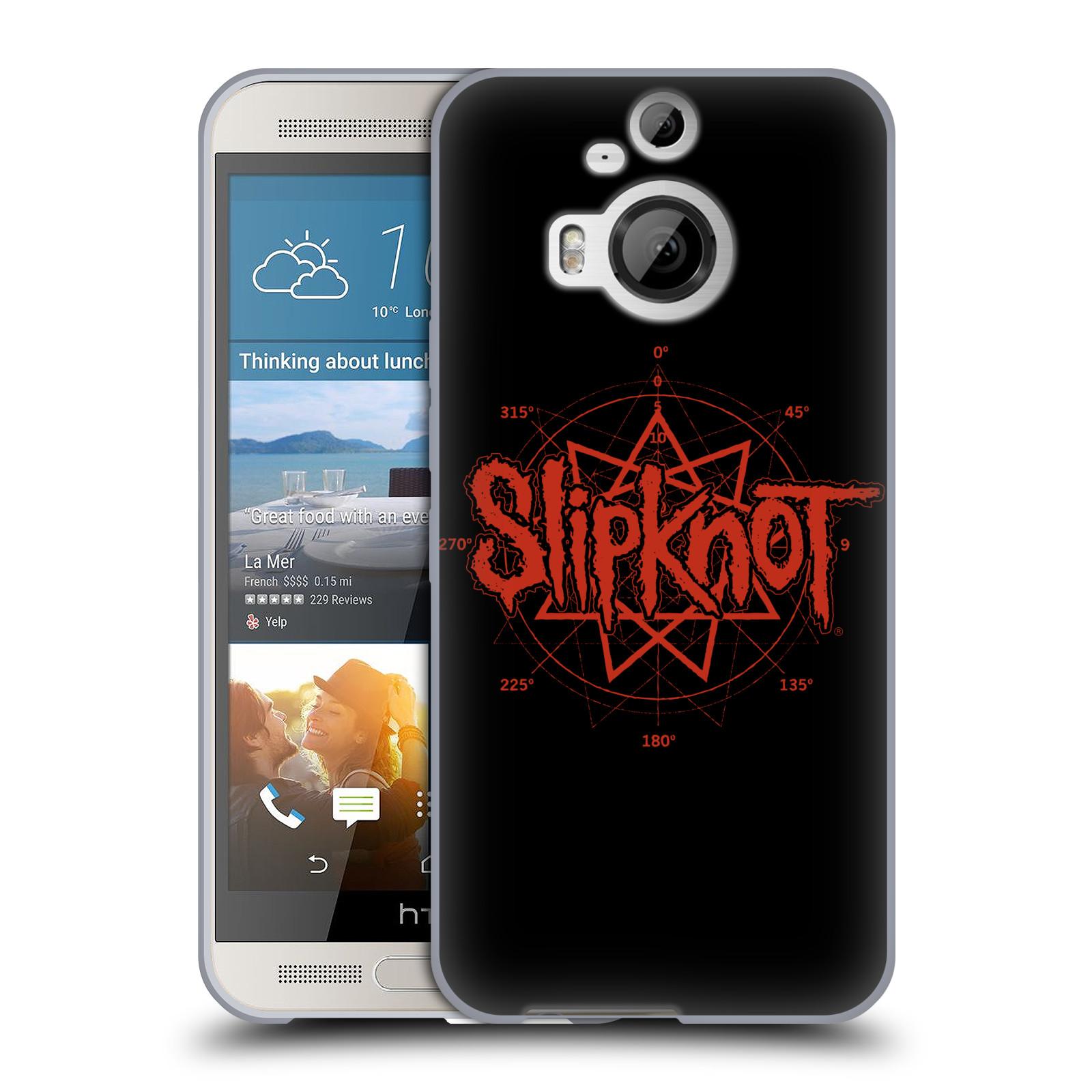HEAD CASE silikonový obal na mobil HTC One M9 PLUS hudební skupina Slipknot logo