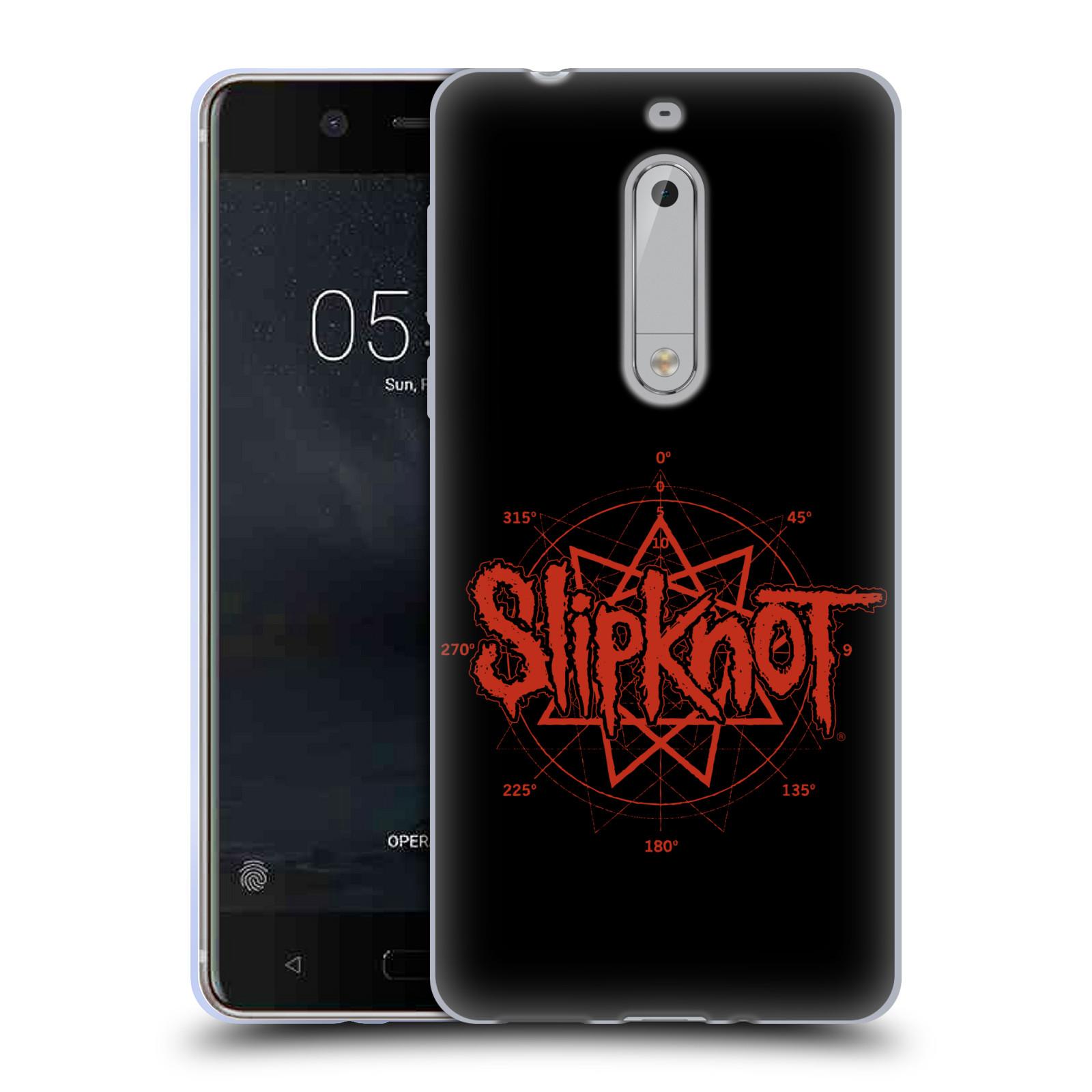 HEAD CASE silikonový obal na mobil Nokia 5 hudební skupina Slipknot logo