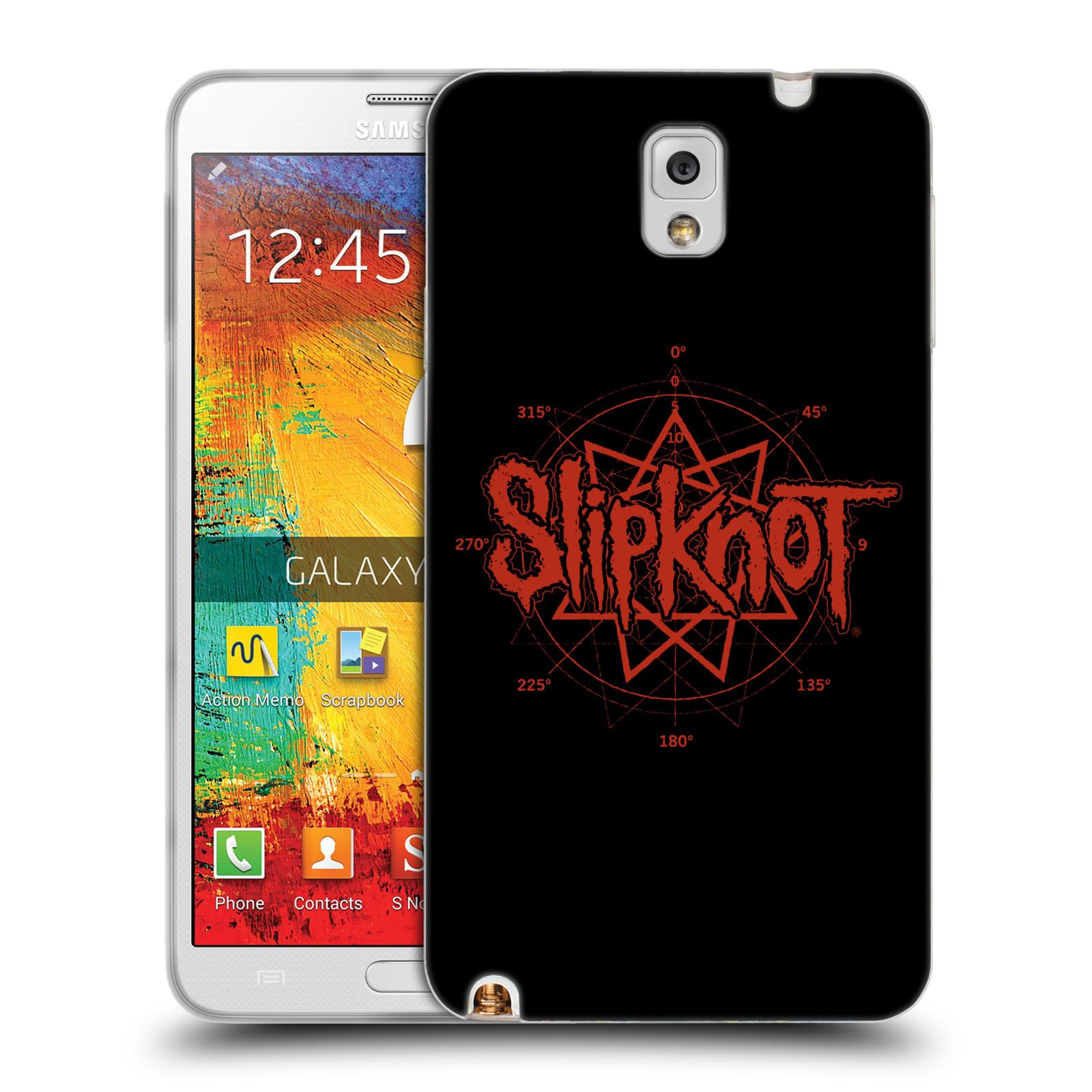 HEAD CASE silikonový obal na mobil Samsung Galaxy Note 3 hudební skupina Slipknot logo