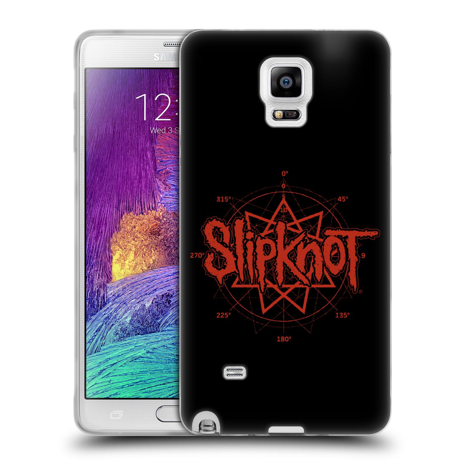 HEAD CASE silikonový obal na mobil Samsung Galaxy Note 4 hudební skupina Slipknot logo