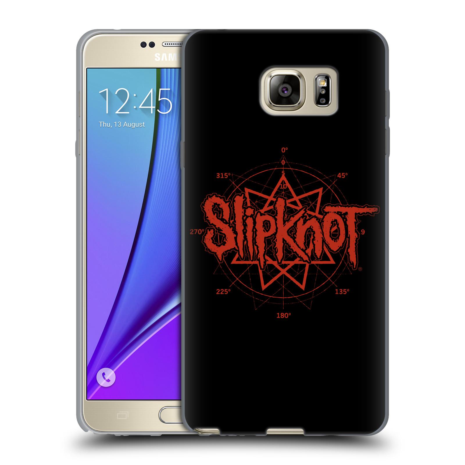 HEAD CASE silikonový obal na mobil Samsung Galaxy Note 5 hudební skupina Slipknot logo